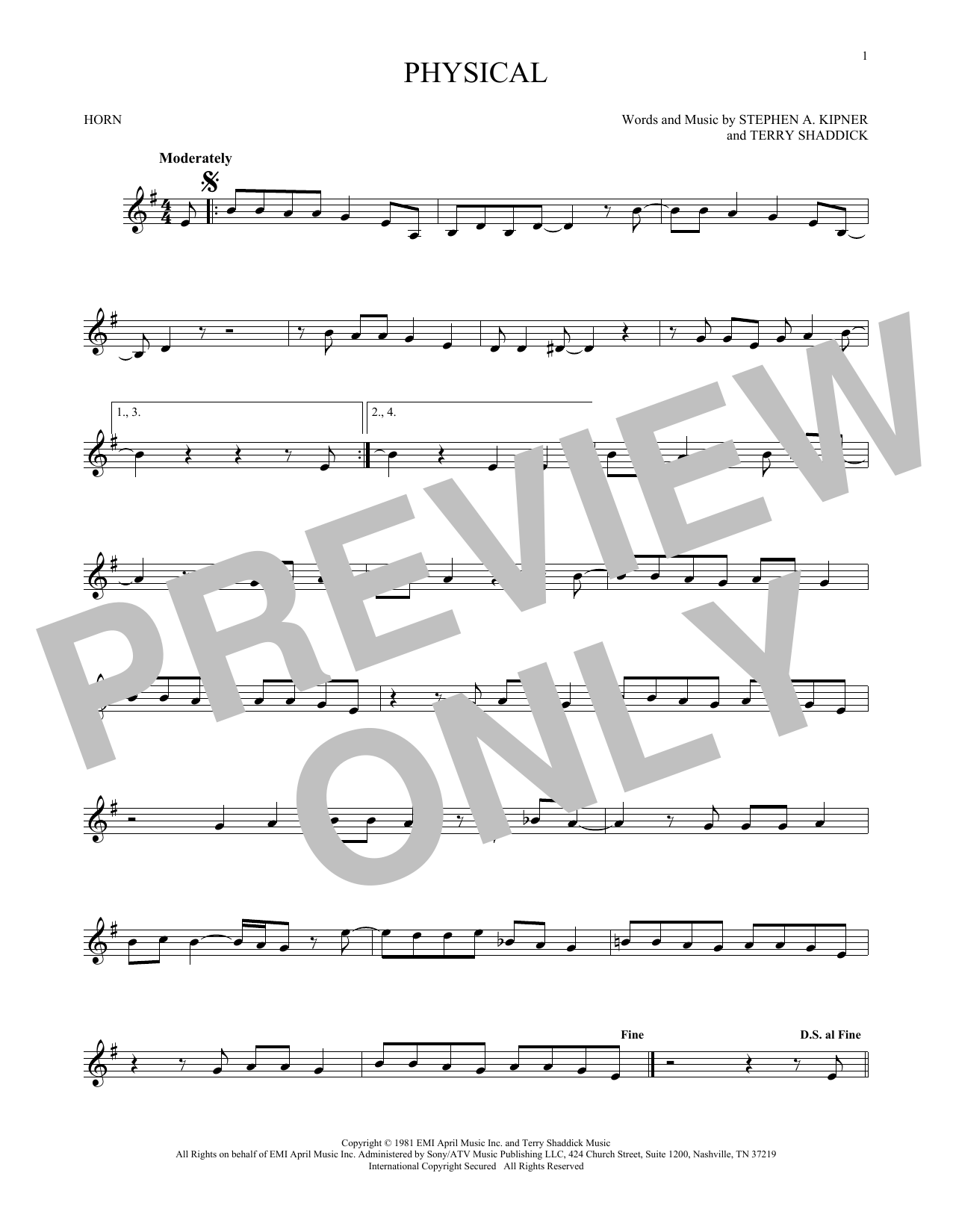 Physical (French Horn Solo)