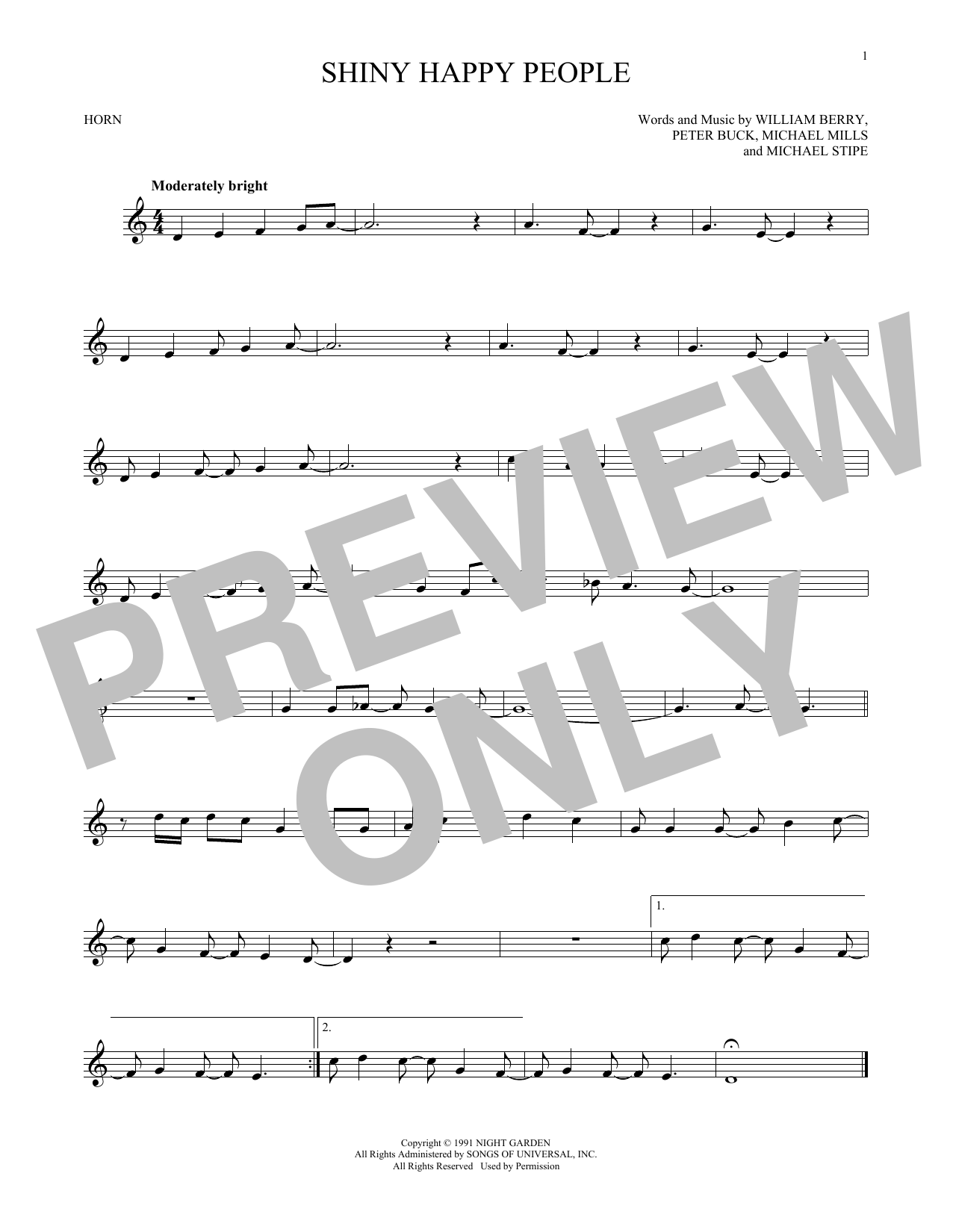 Shiny Happy People (French Horn Solo)