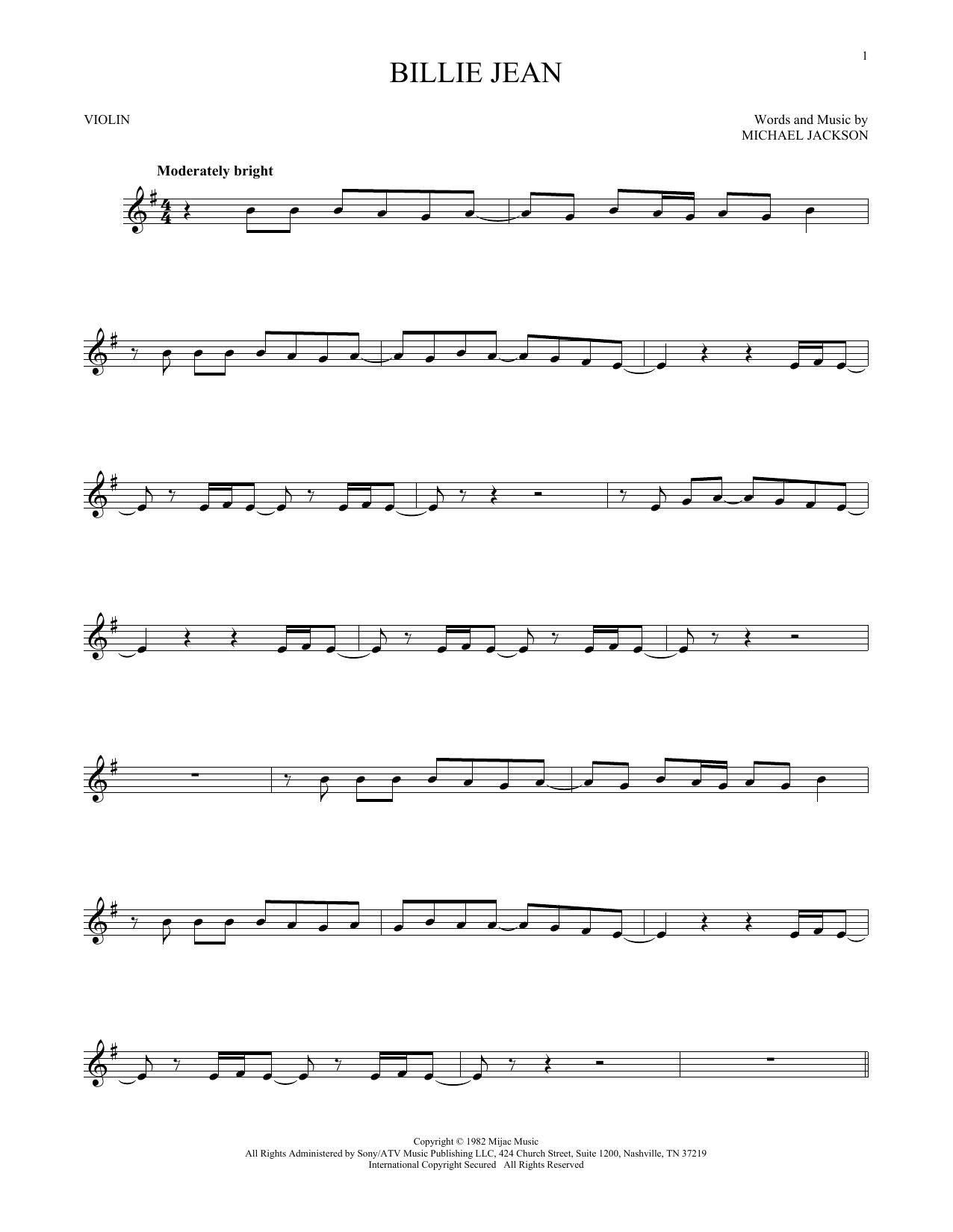 Billie Jean (Violin Solo)