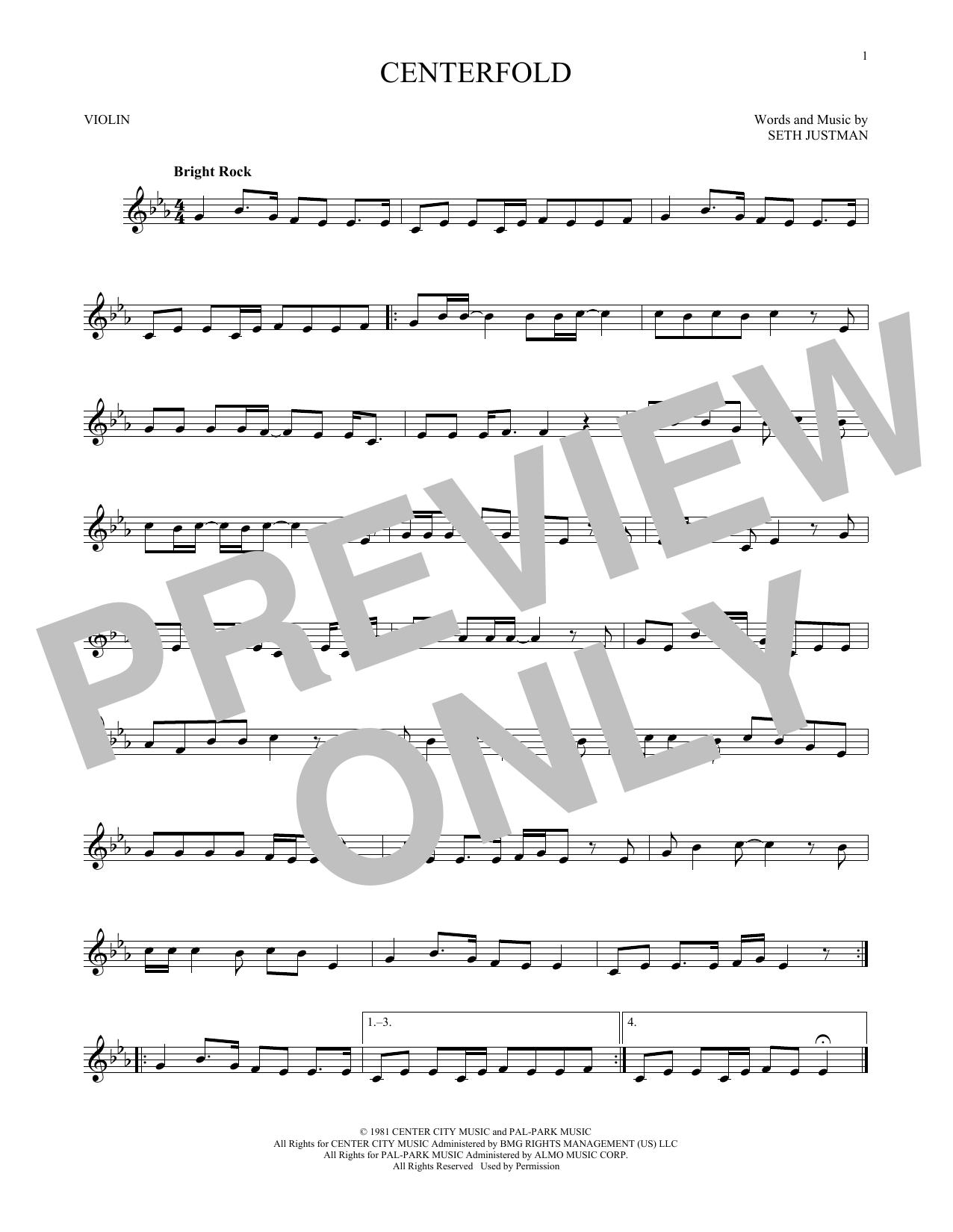 Centerfold (Violin Solo)