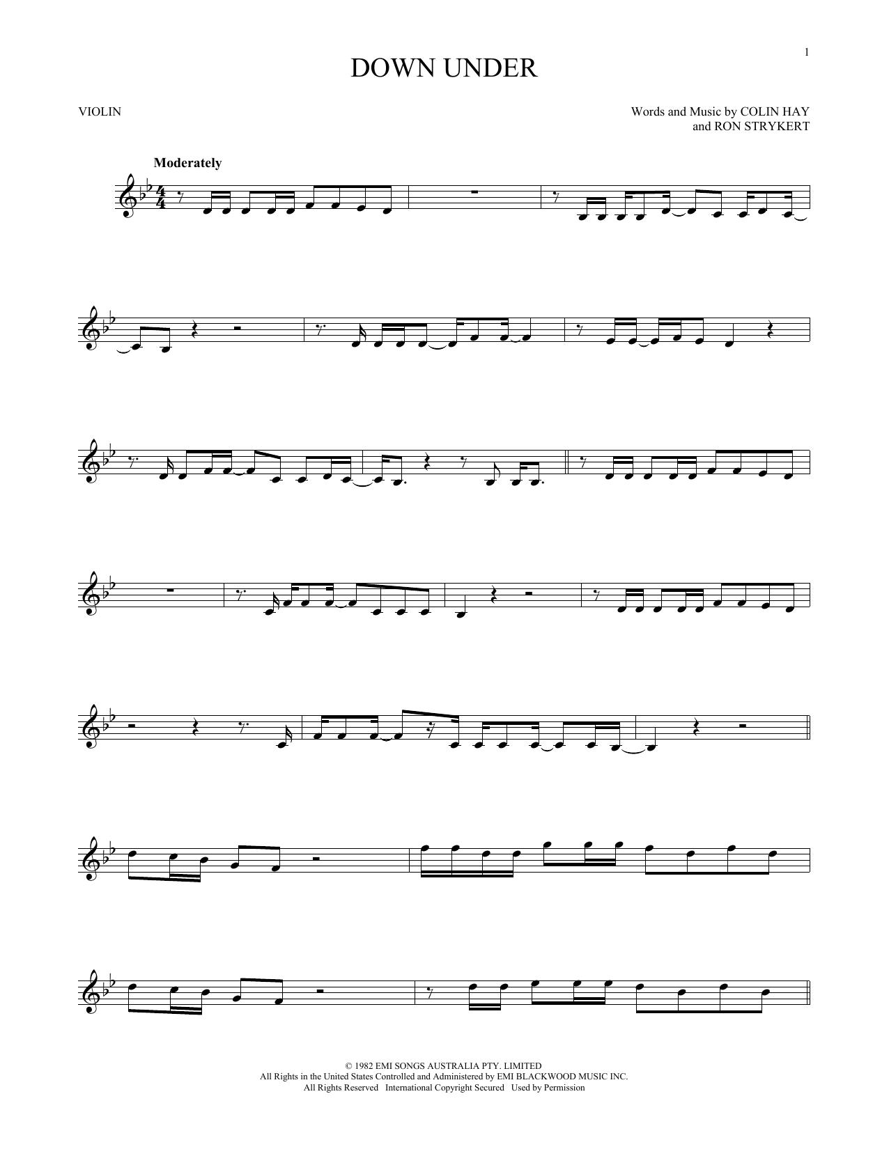 Down Under (Violin Solo)