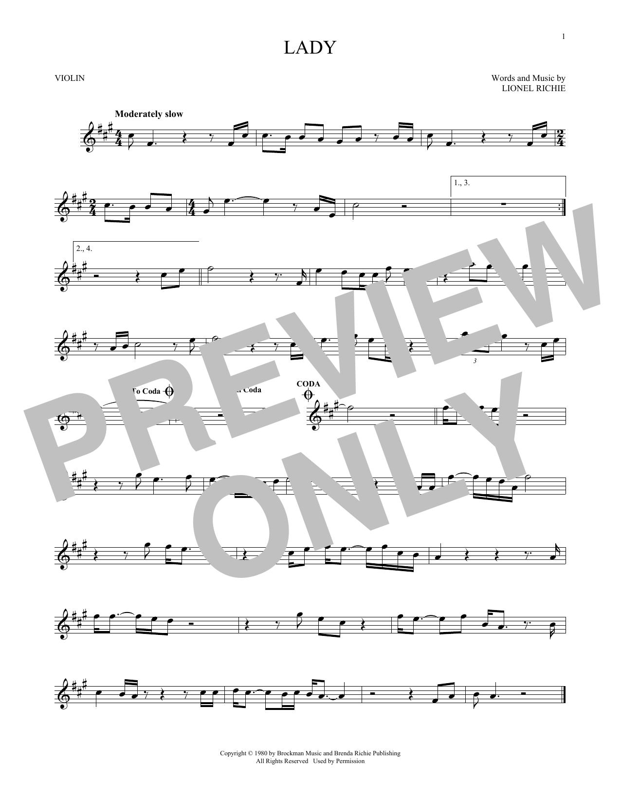 Lady (Violin Solo)