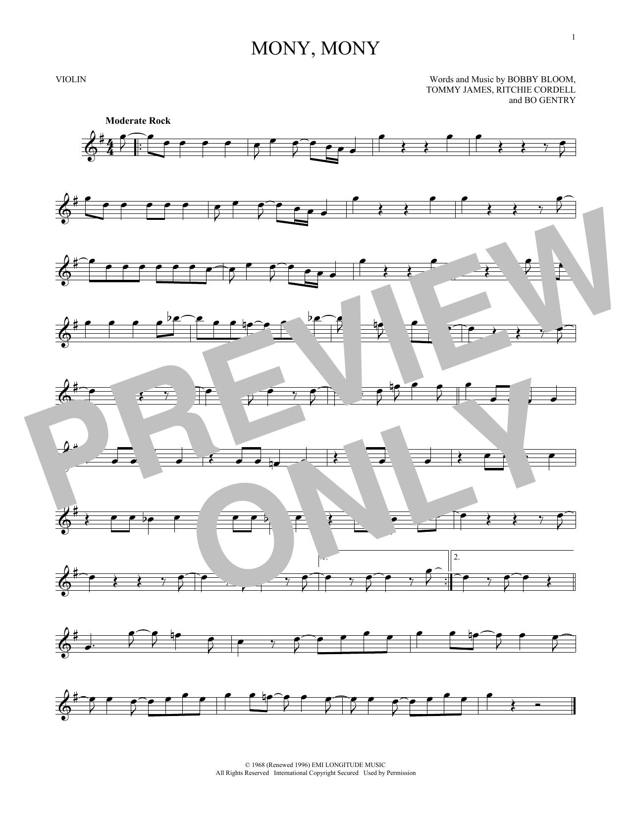 Mony, Mony (Violin Solo)