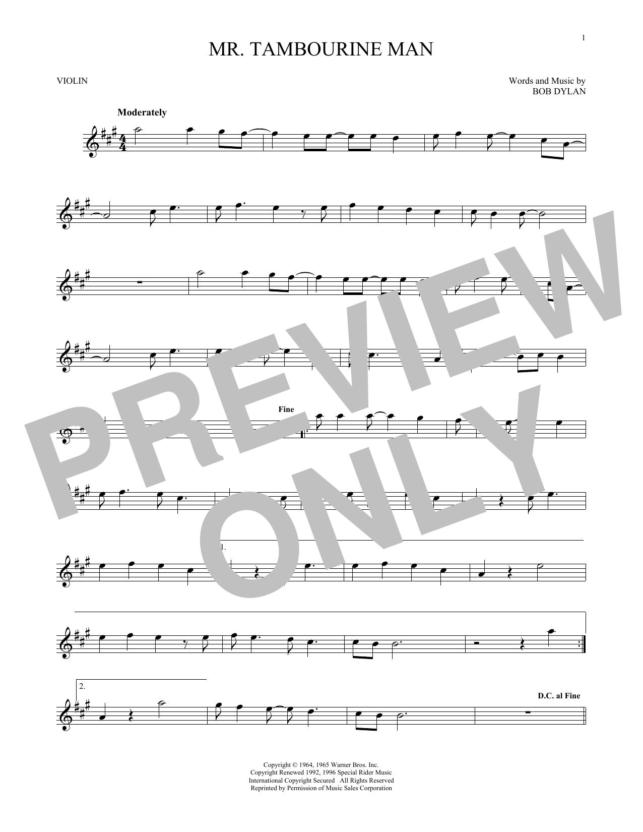 Mr. Tambourine Man (Violin Solo)