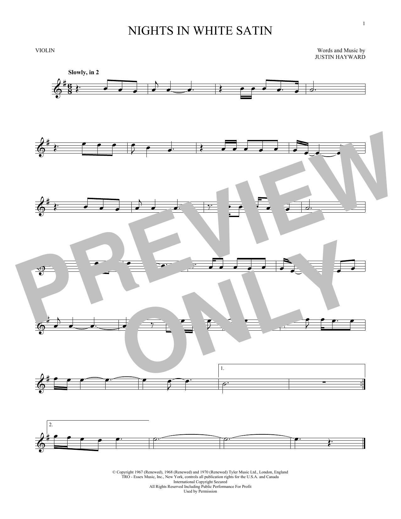 Nights In White Satin (Violin Solo)