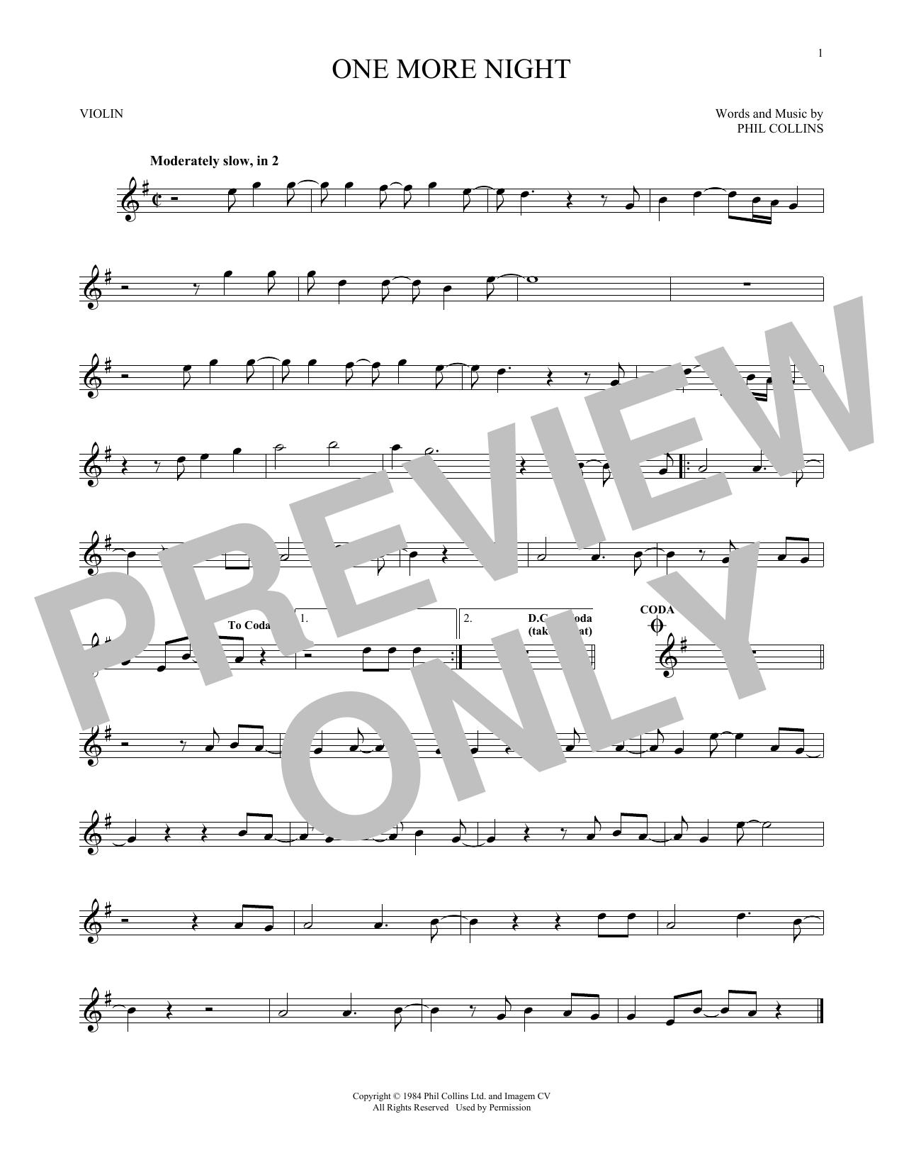 One More Night (Violin Solo)