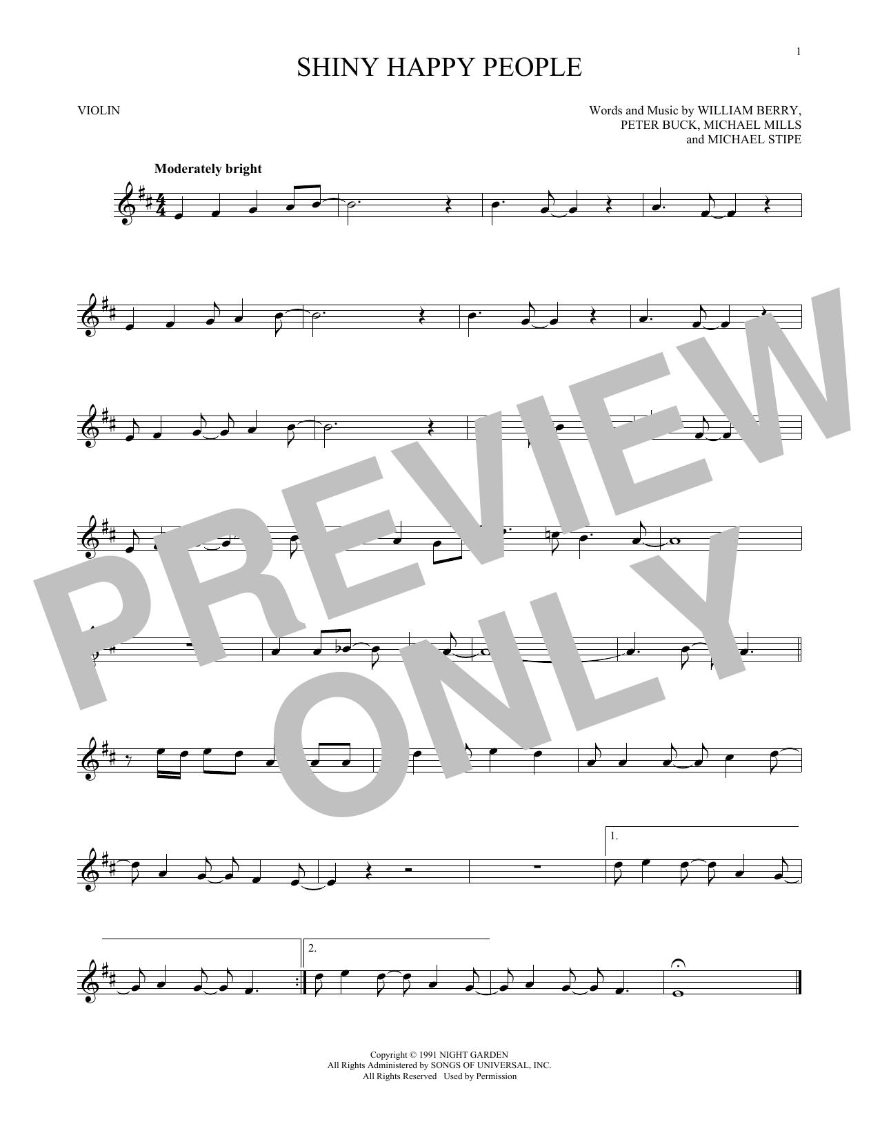 Shiny Happy People (Violin Solo)