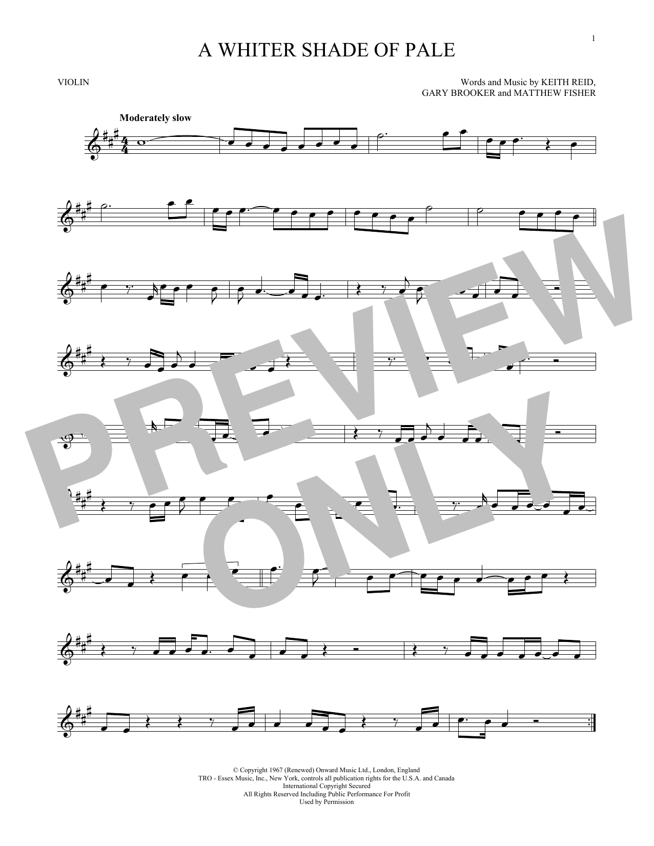 A Whiter Shade Of Pale (Violin Solo)