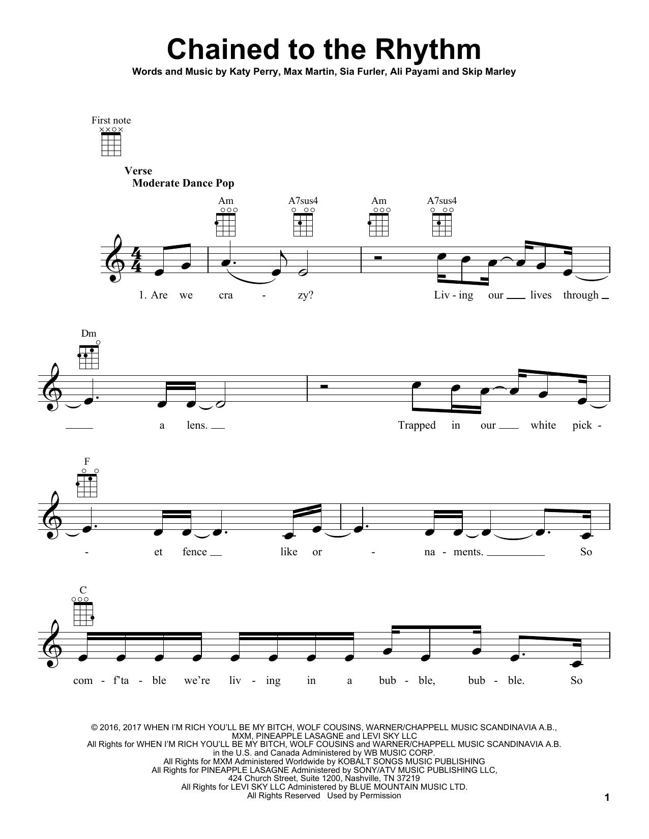 Chained To The Rhythm (Ukulele)