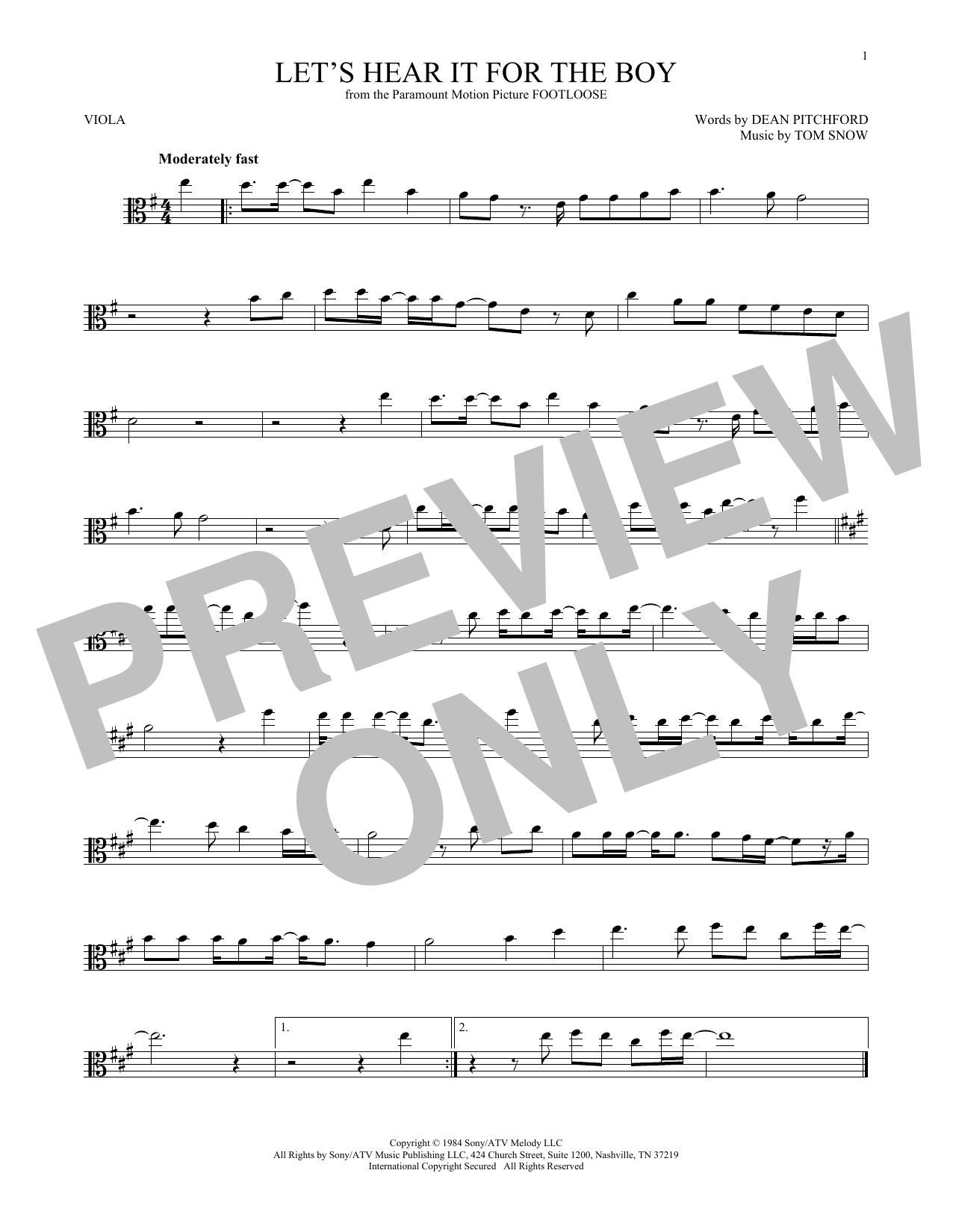 Let's Hear It For The Boy (Viola Solo)