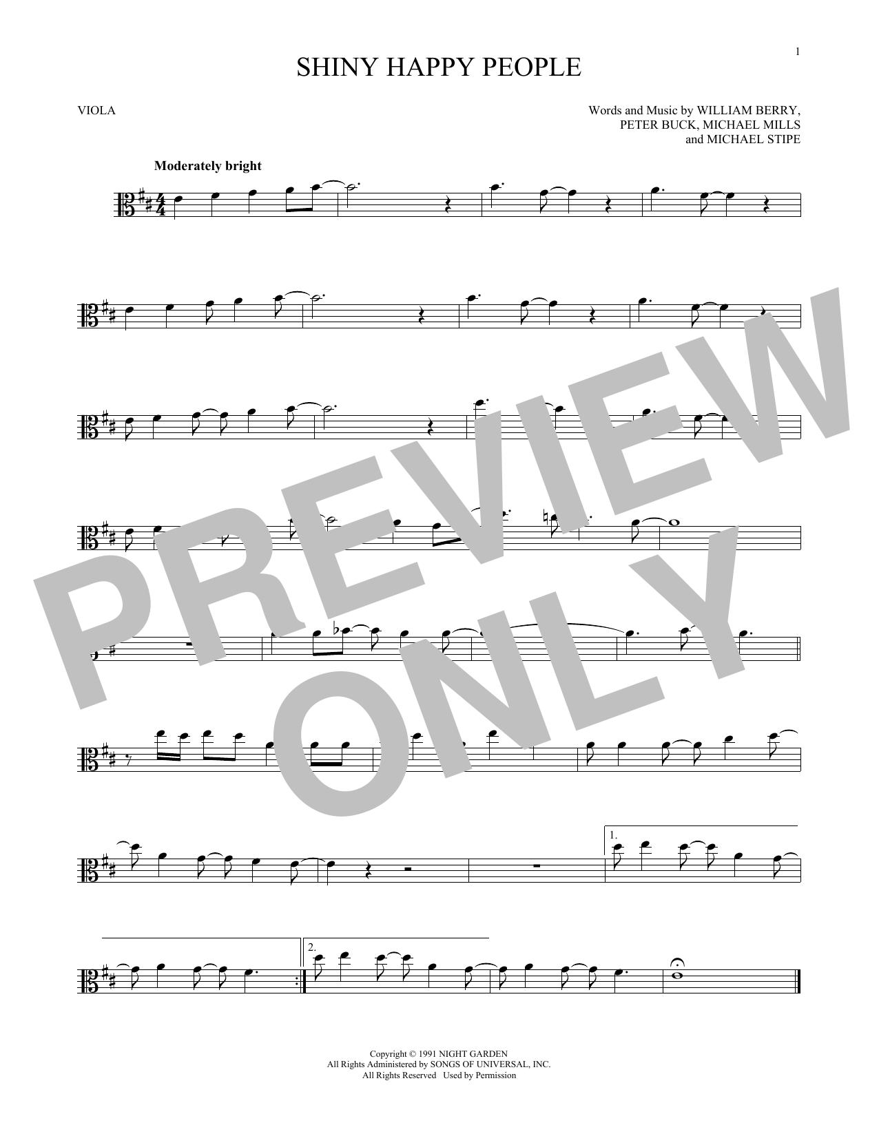 Shiny Happy People (Viola Solo)