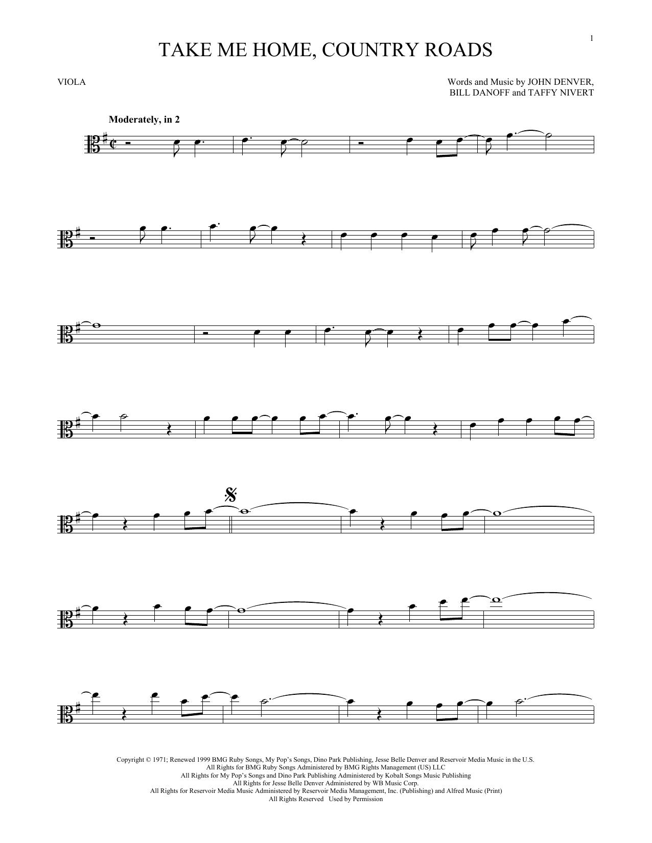 Take Me Home, Country Roads (Viola Solo)