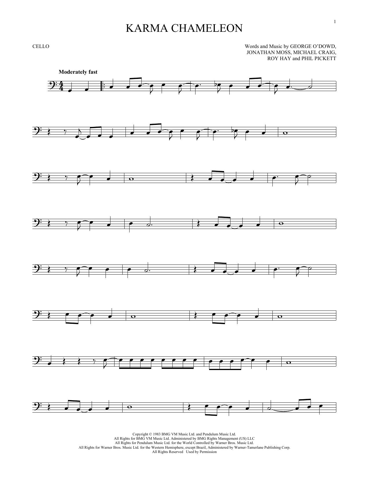 Karma Chameleon (Cello Solo)