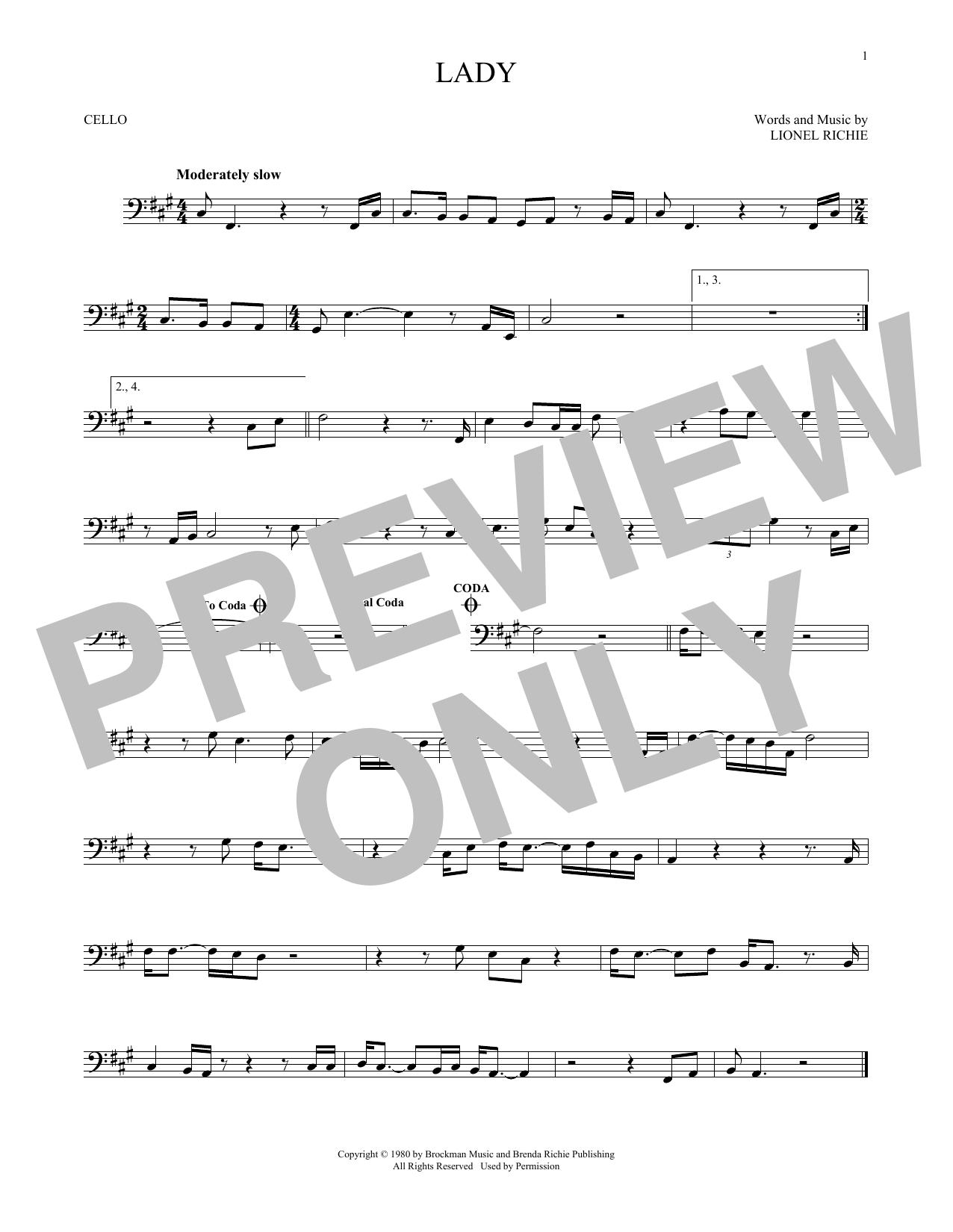 Lady (Cello Solo)