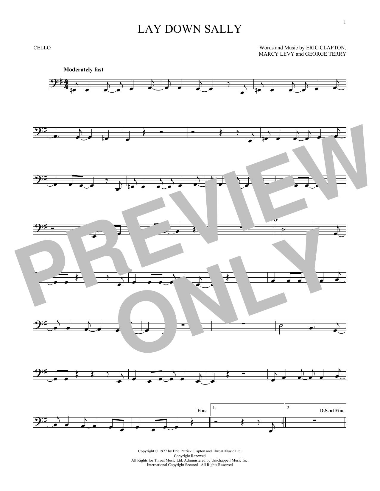 Lay Down Sally (Cello Solo)