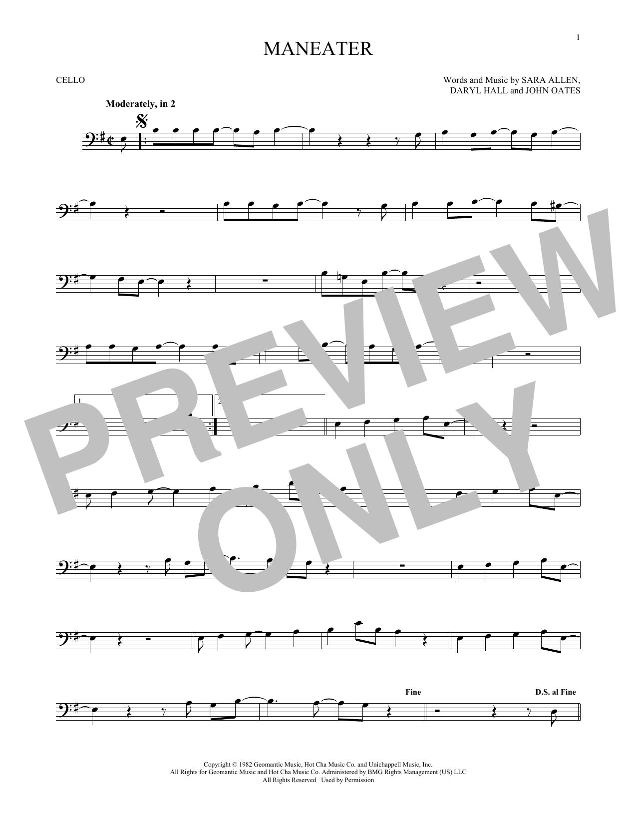 Maneater (Cello)