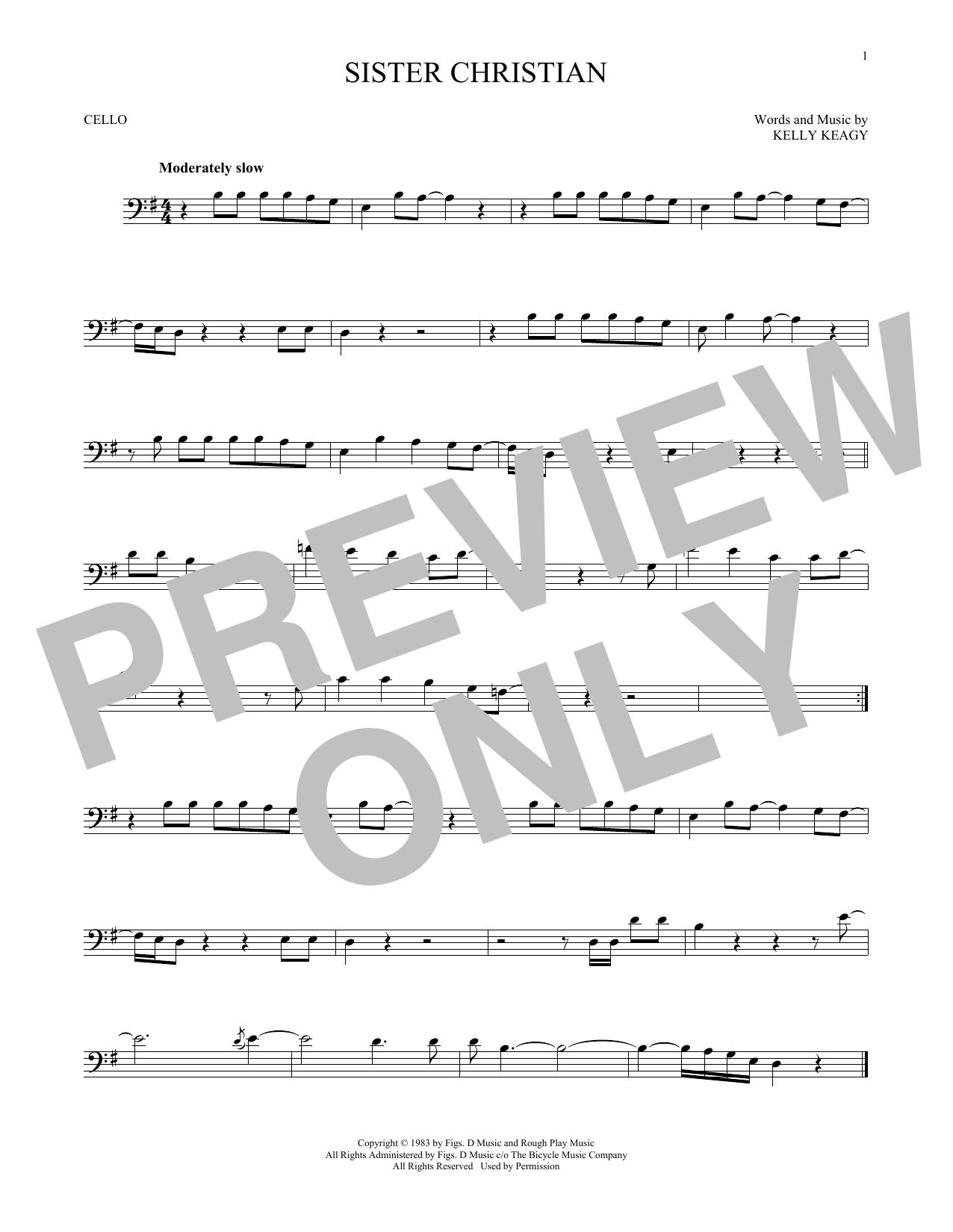 Sister Christian (Cello Solo)