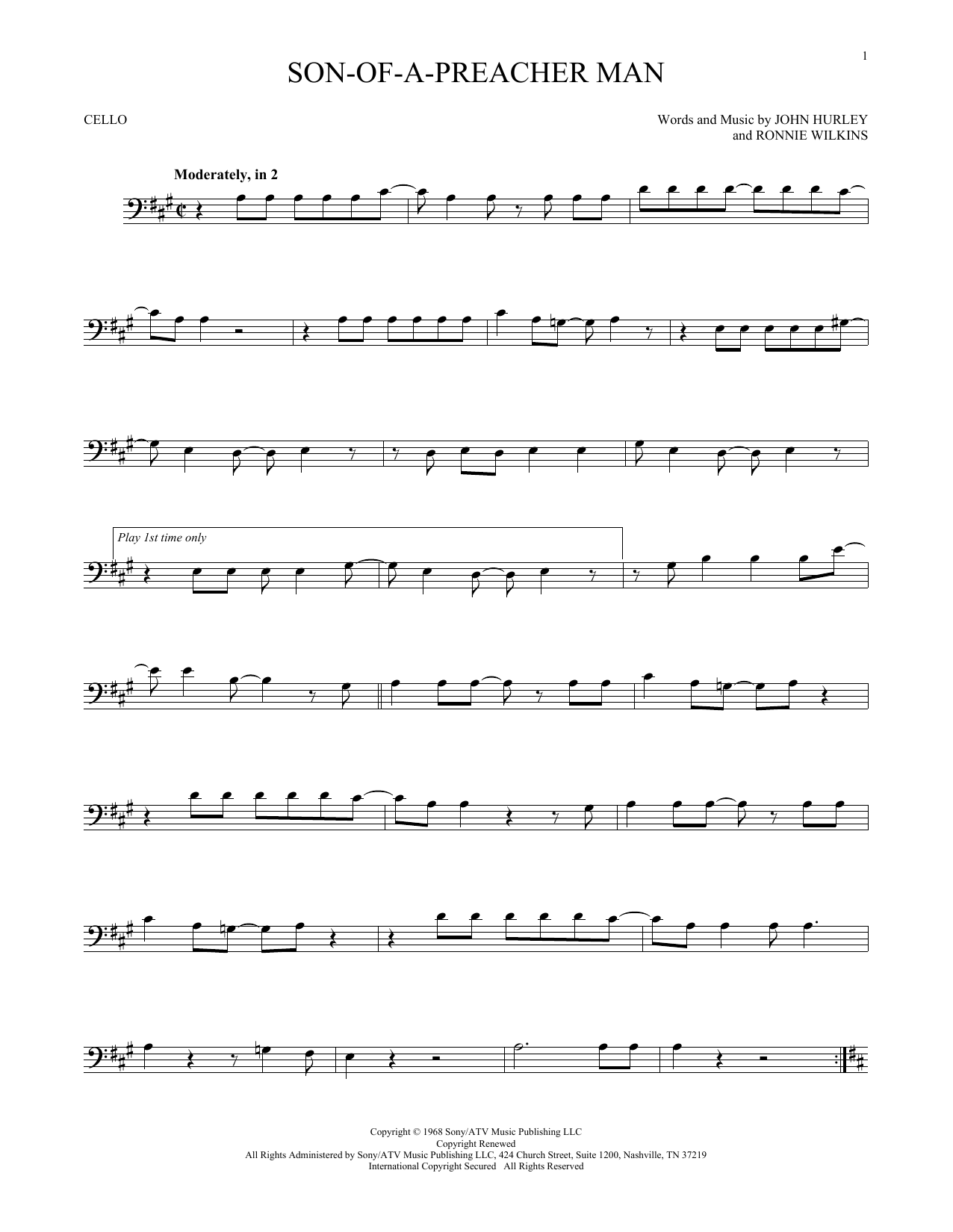 Son-Of-A-Preacher Man (Cello Solo)