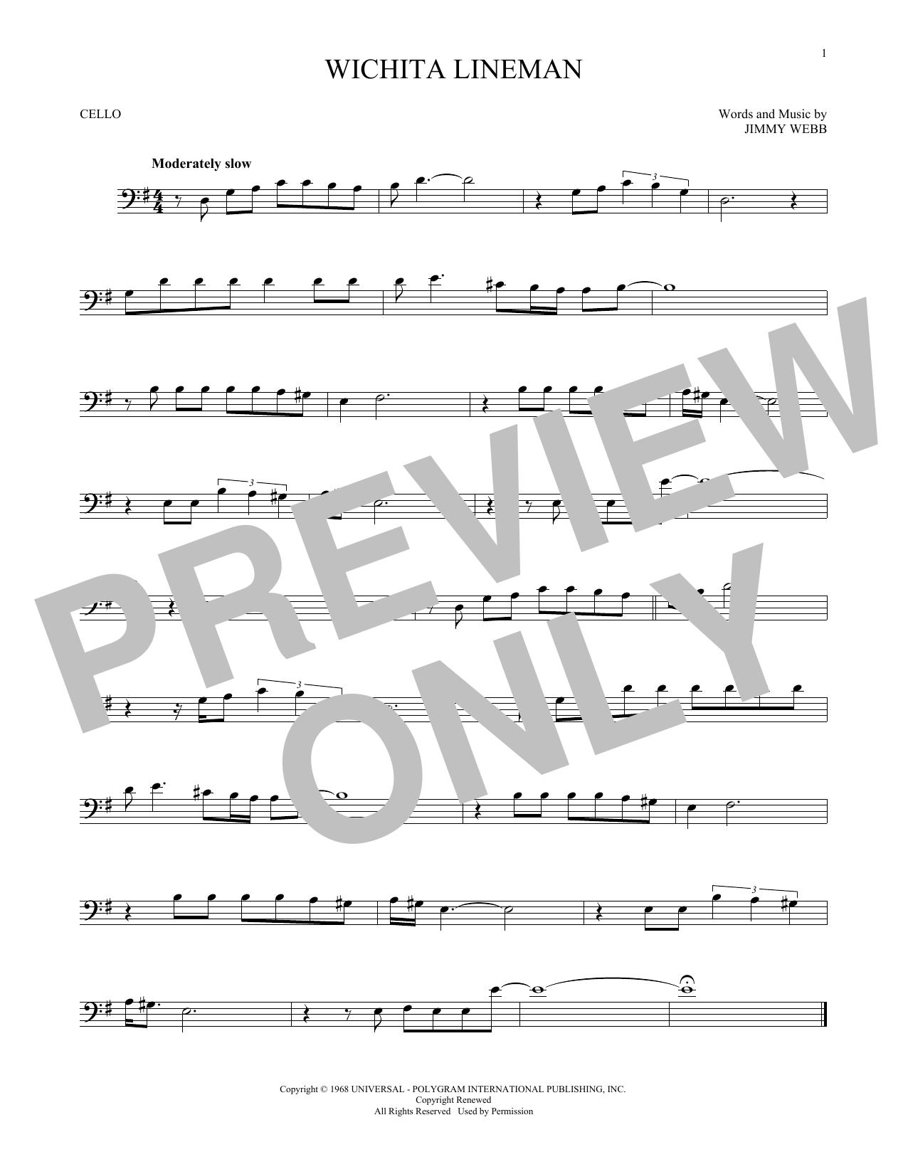 Wichita Lineman (Cello Solo)