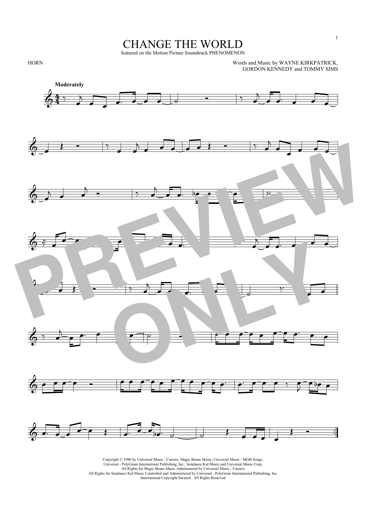 Change The World (French Horn Solo)