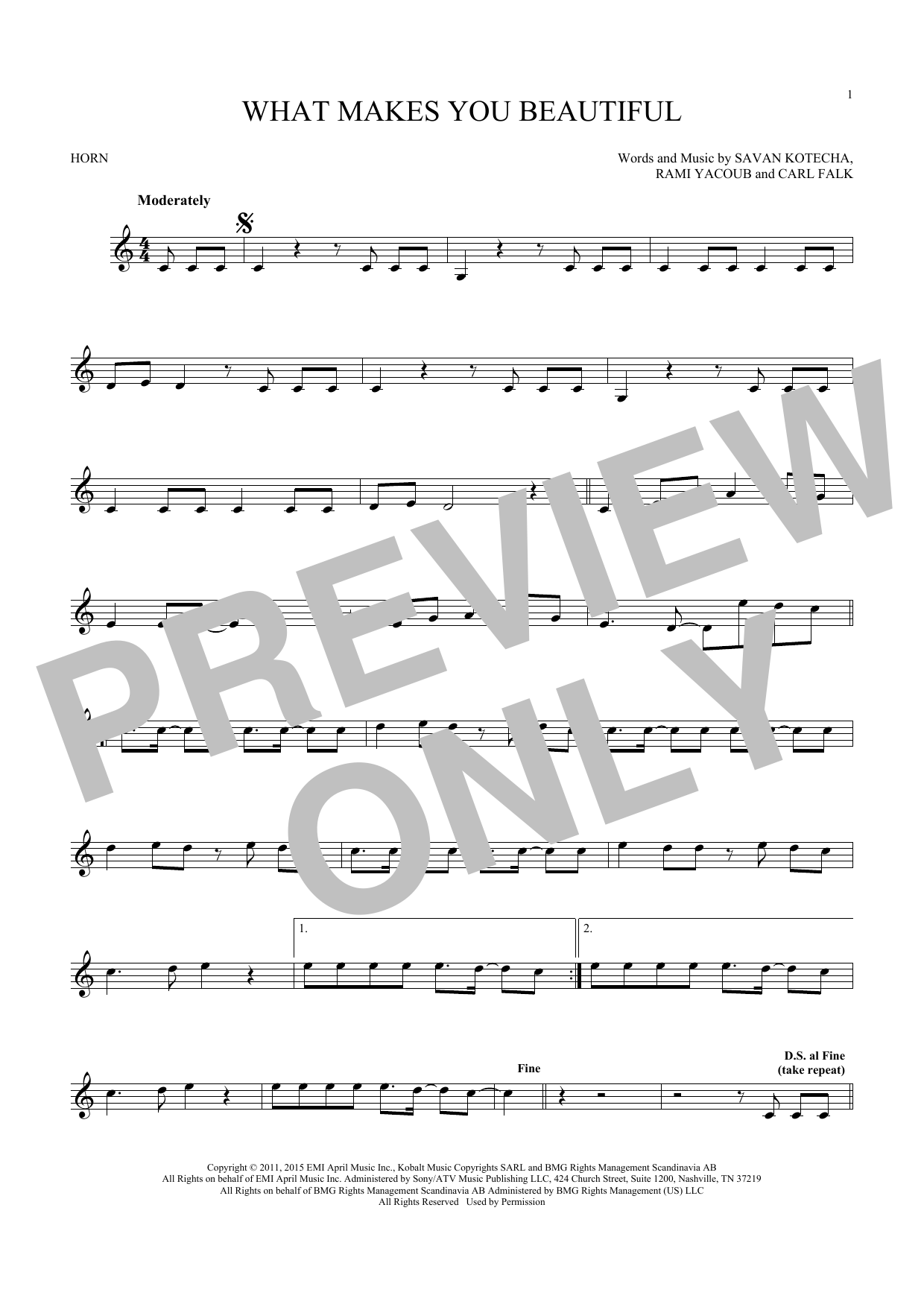 What Makes You Beautiful (French Horn Solo)