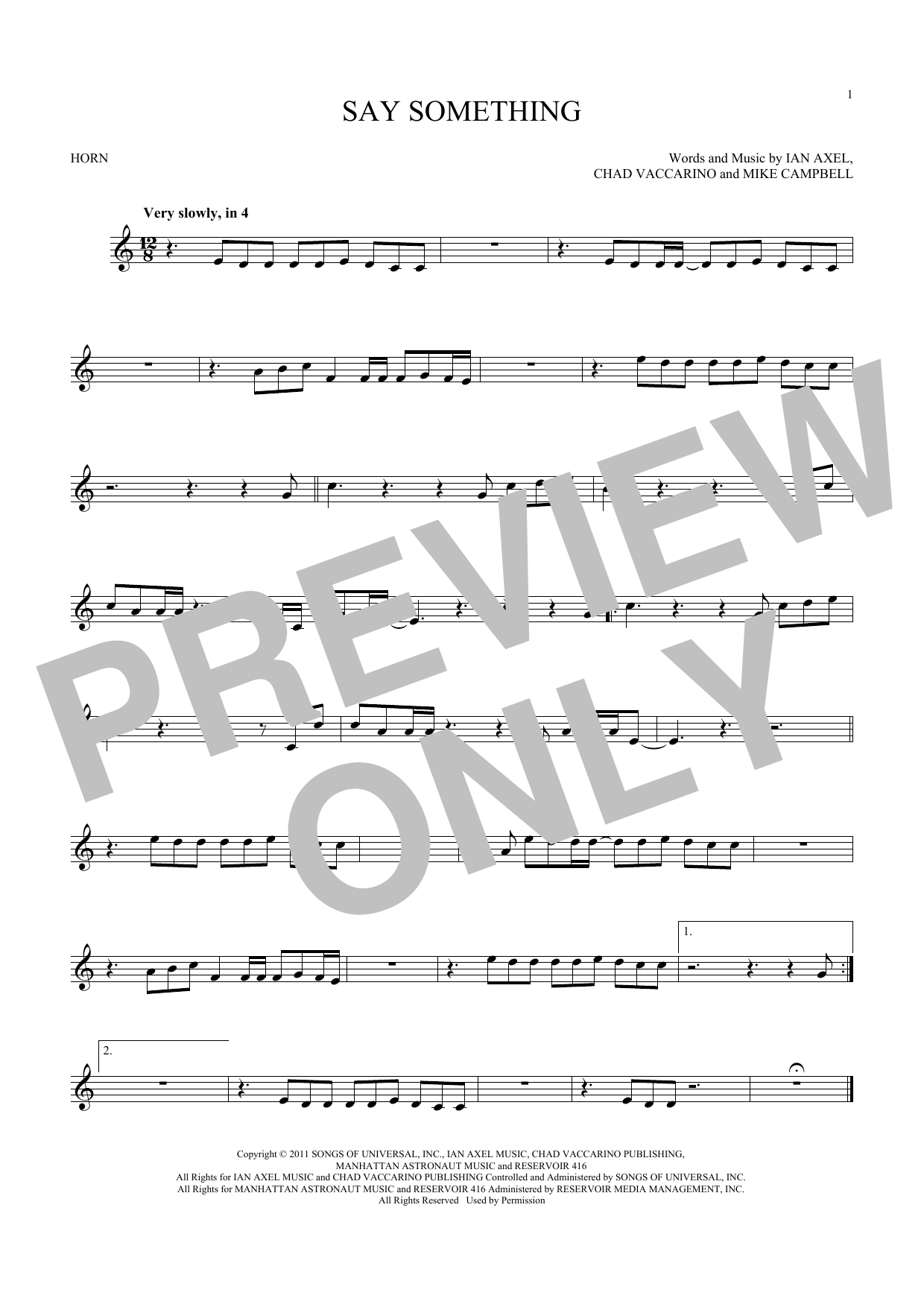 Say Something (French Horn Solo)