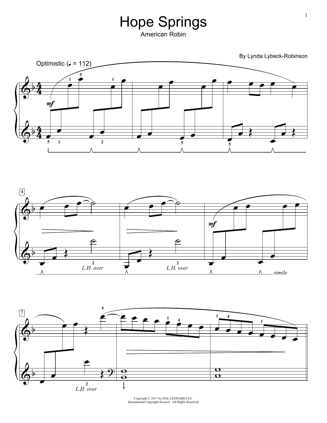 Hope Springs (Educational Piano)