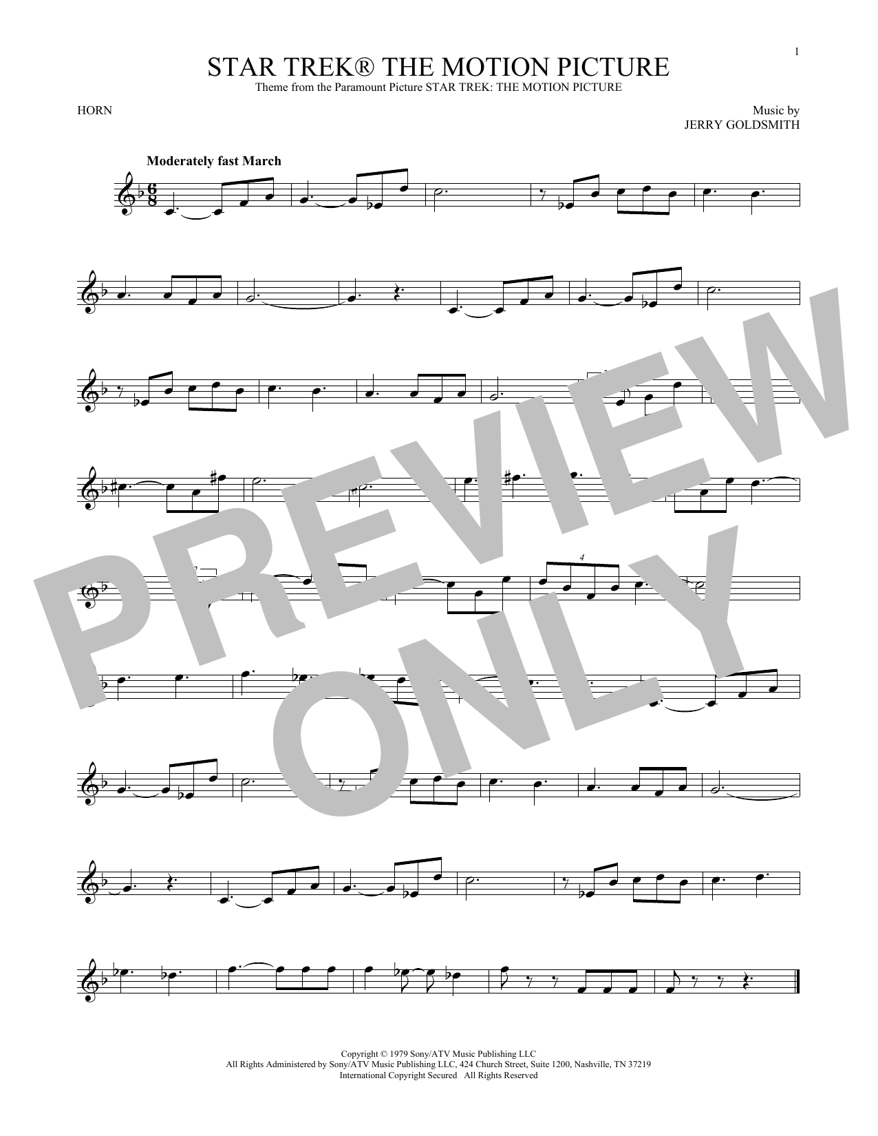 Star Trek The Motion Picture (French Horn Solo)
