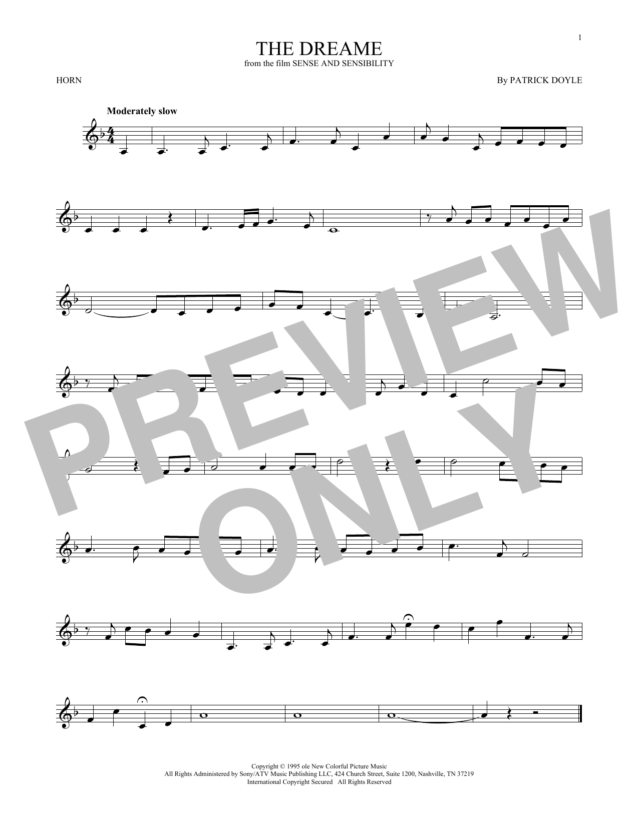 The Dreame (French Horn Solo)