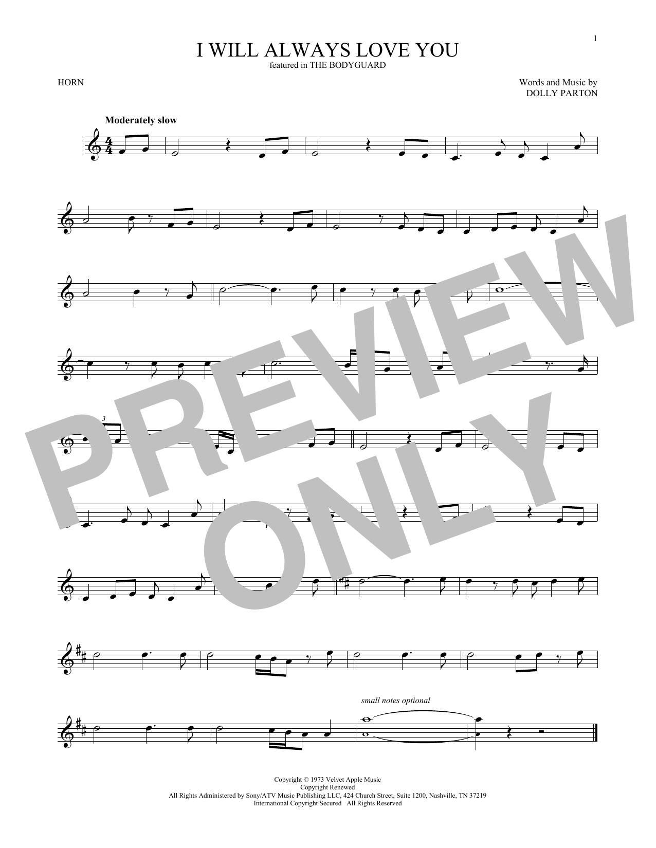 I Will Always Love You (French Horn Solo)