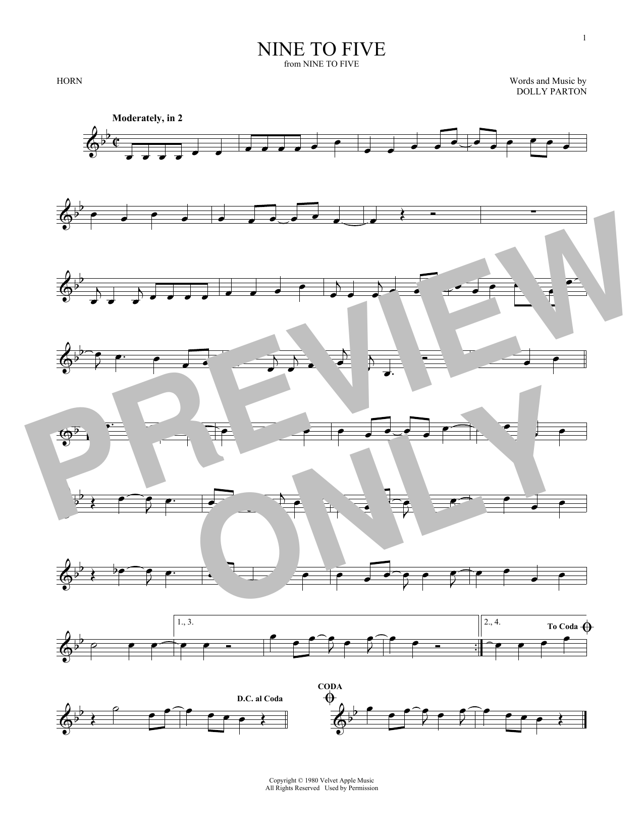 Nine To Five (French Horn Solo)