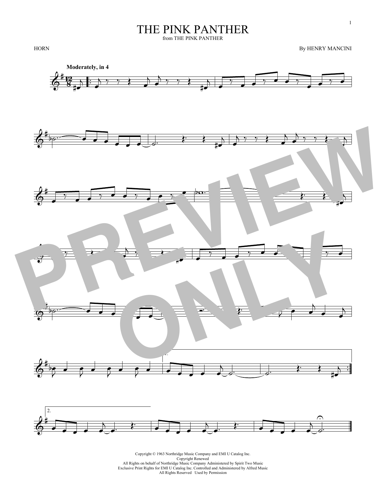 The Pink Panther (French Horn Solo)