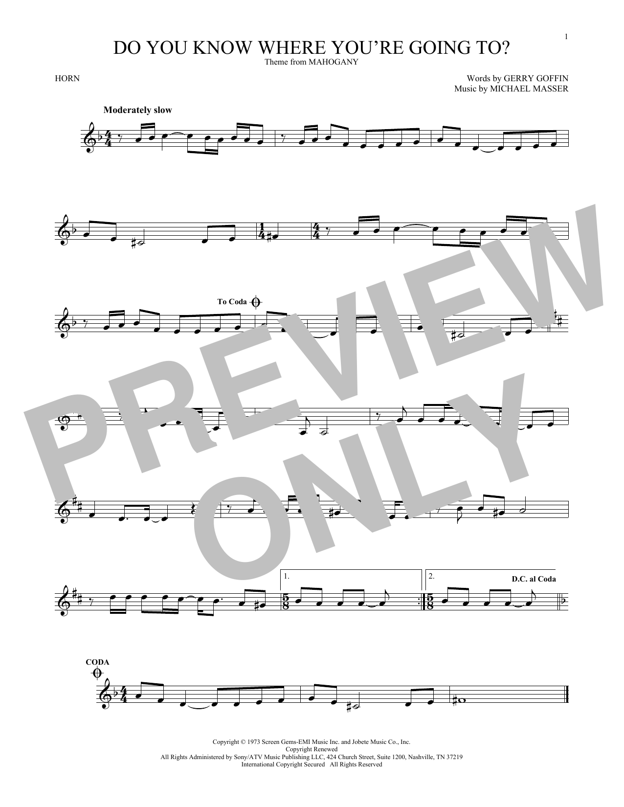 Do You Know Where You're Going To? (French Horn Solo)