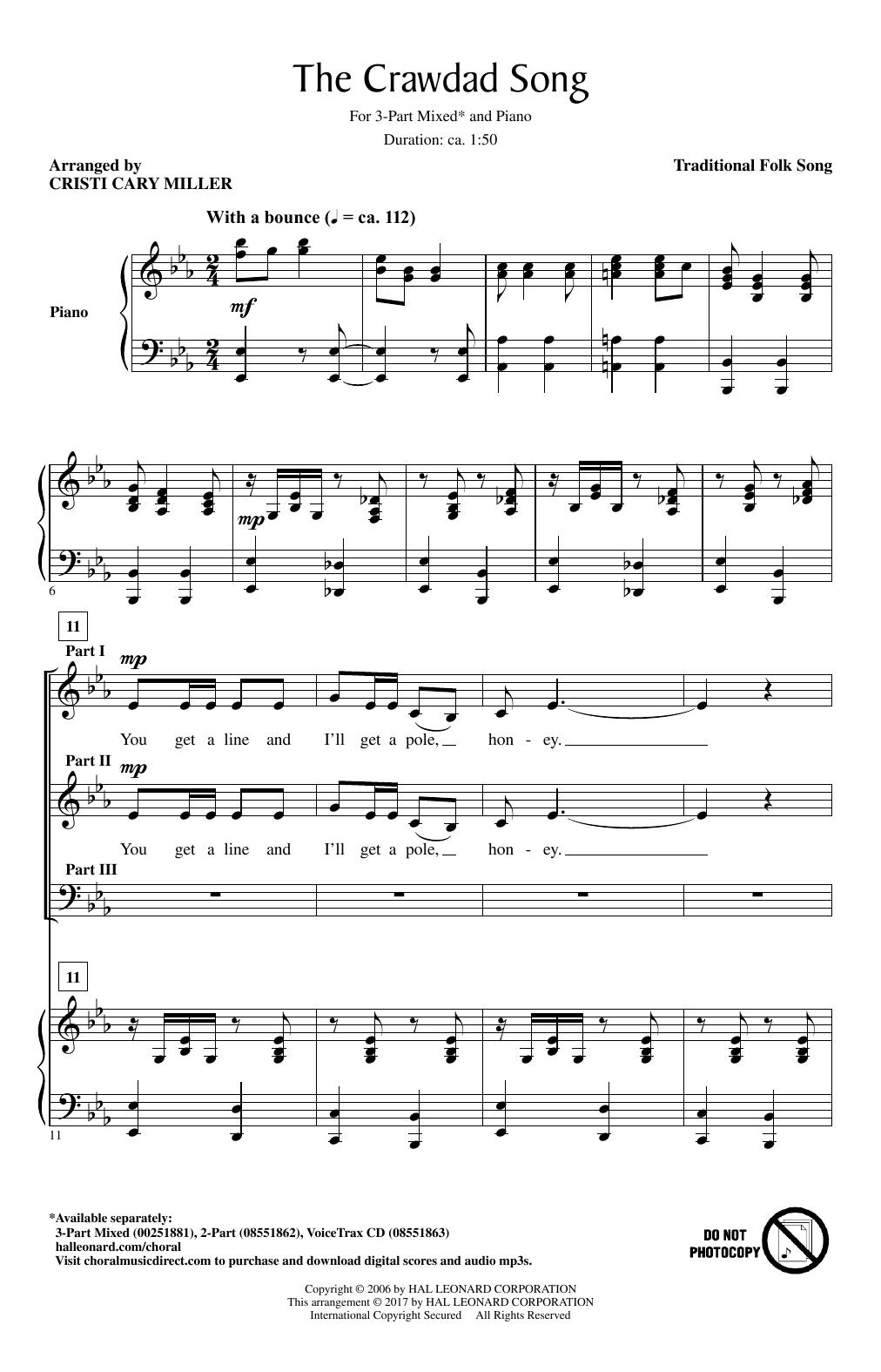 The Crawdad Song Sheet Music