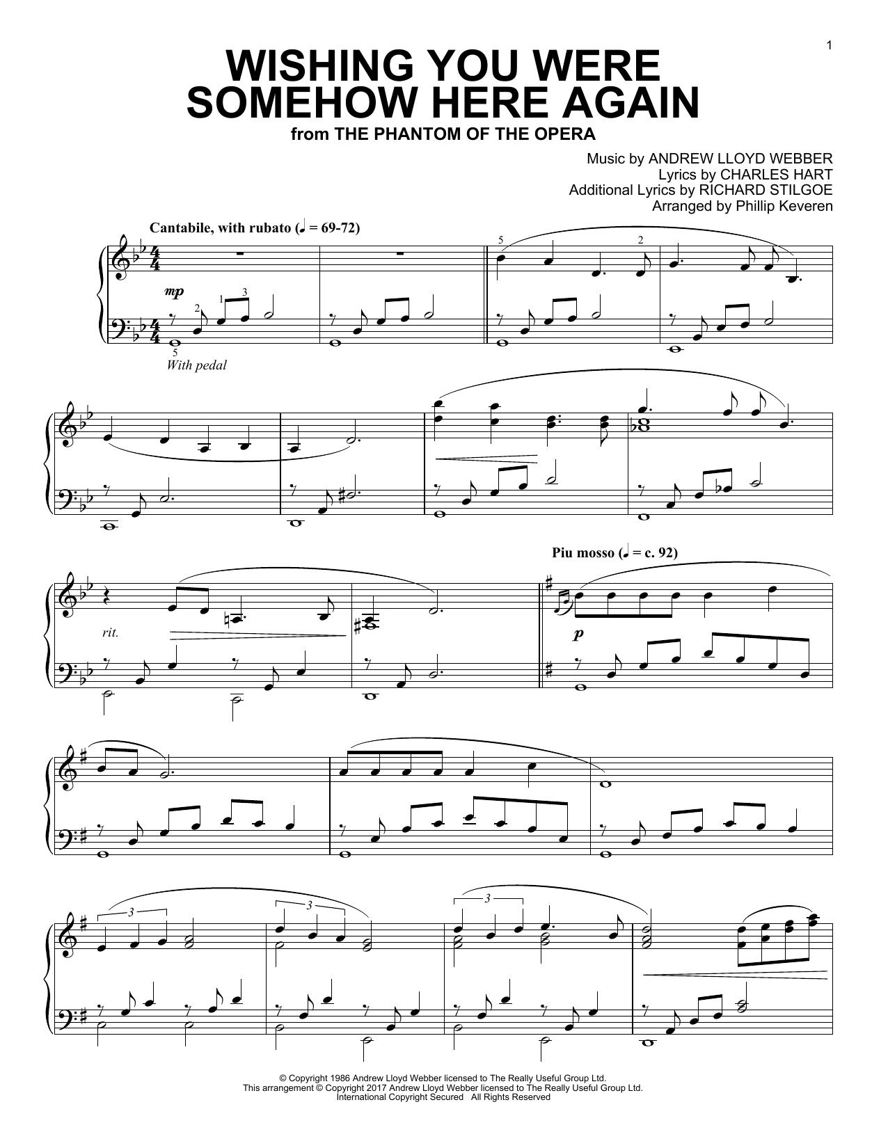Wishing You Were Somehow Here Again (Piano Solo)