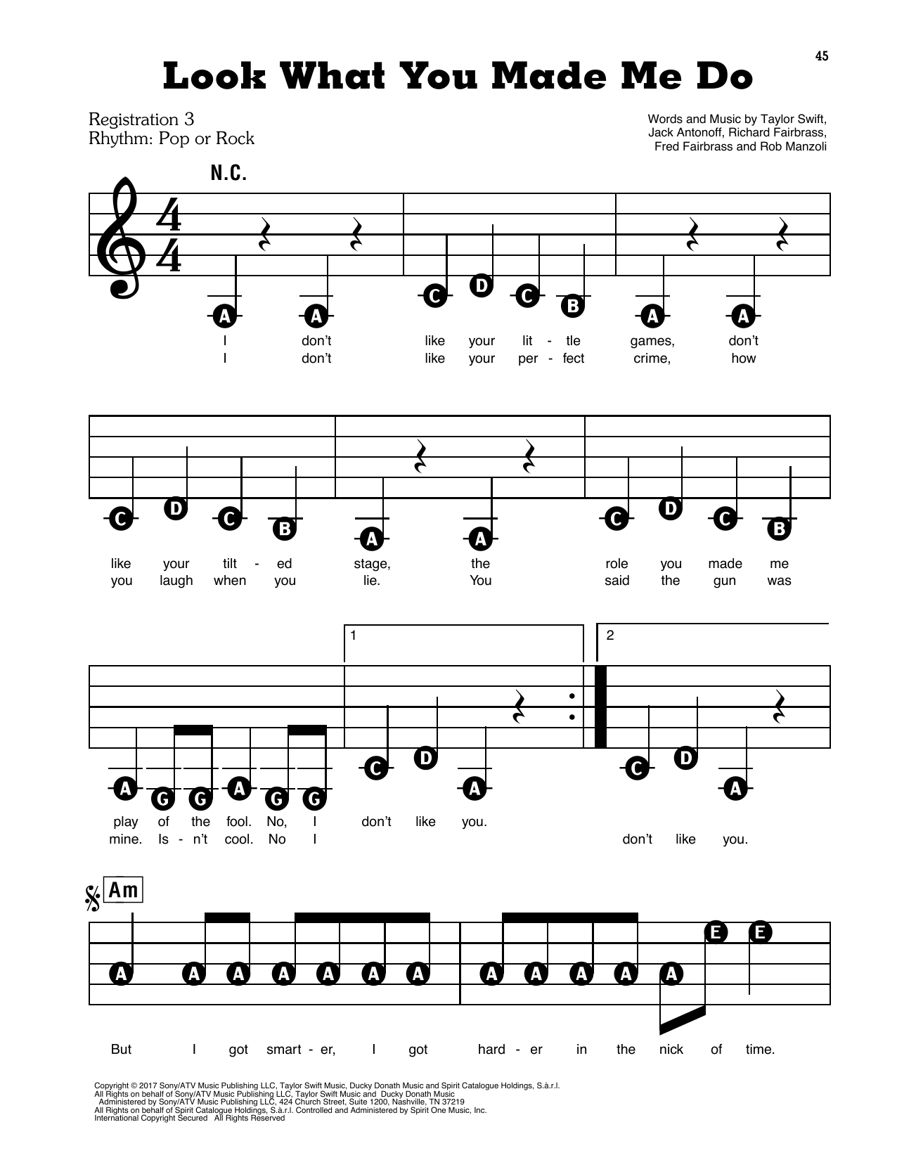 Look What You Made Me Do Sheet Music