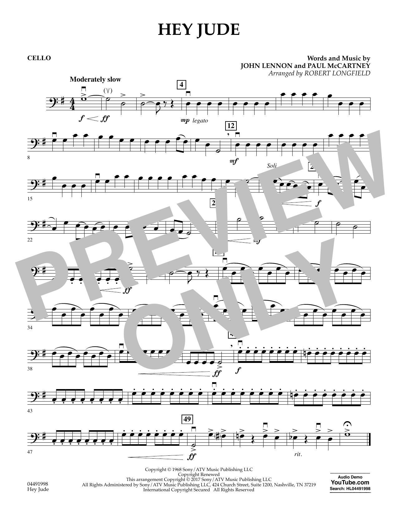 Hey Jude - Cello (Orchestra)