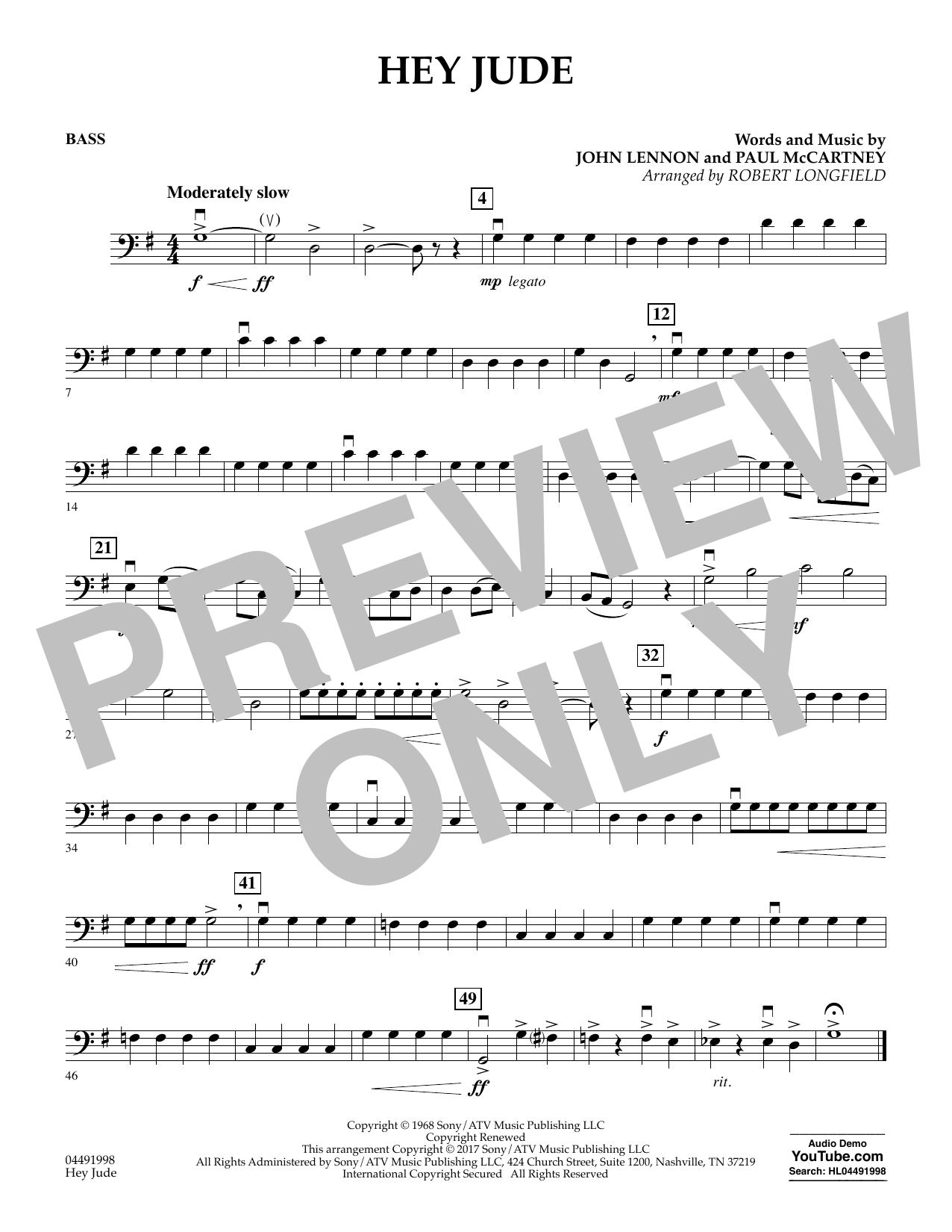 Hey Jude - String Bass (Orchestra)