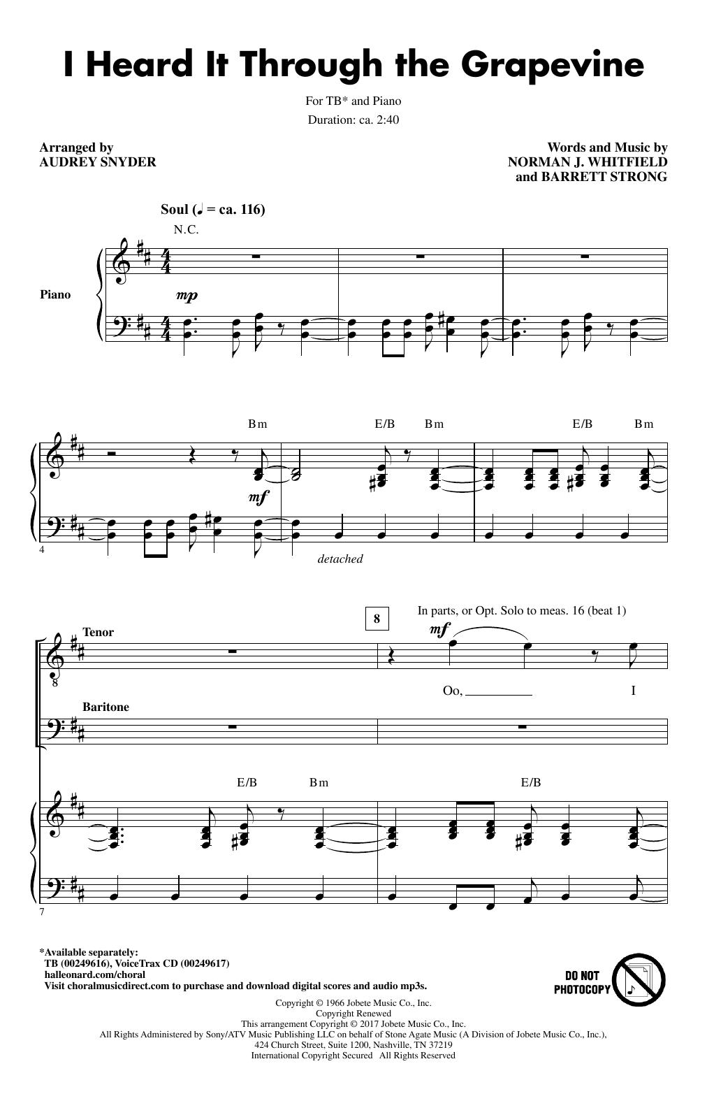 I Heard It Through The Grapevine (TB Choir)