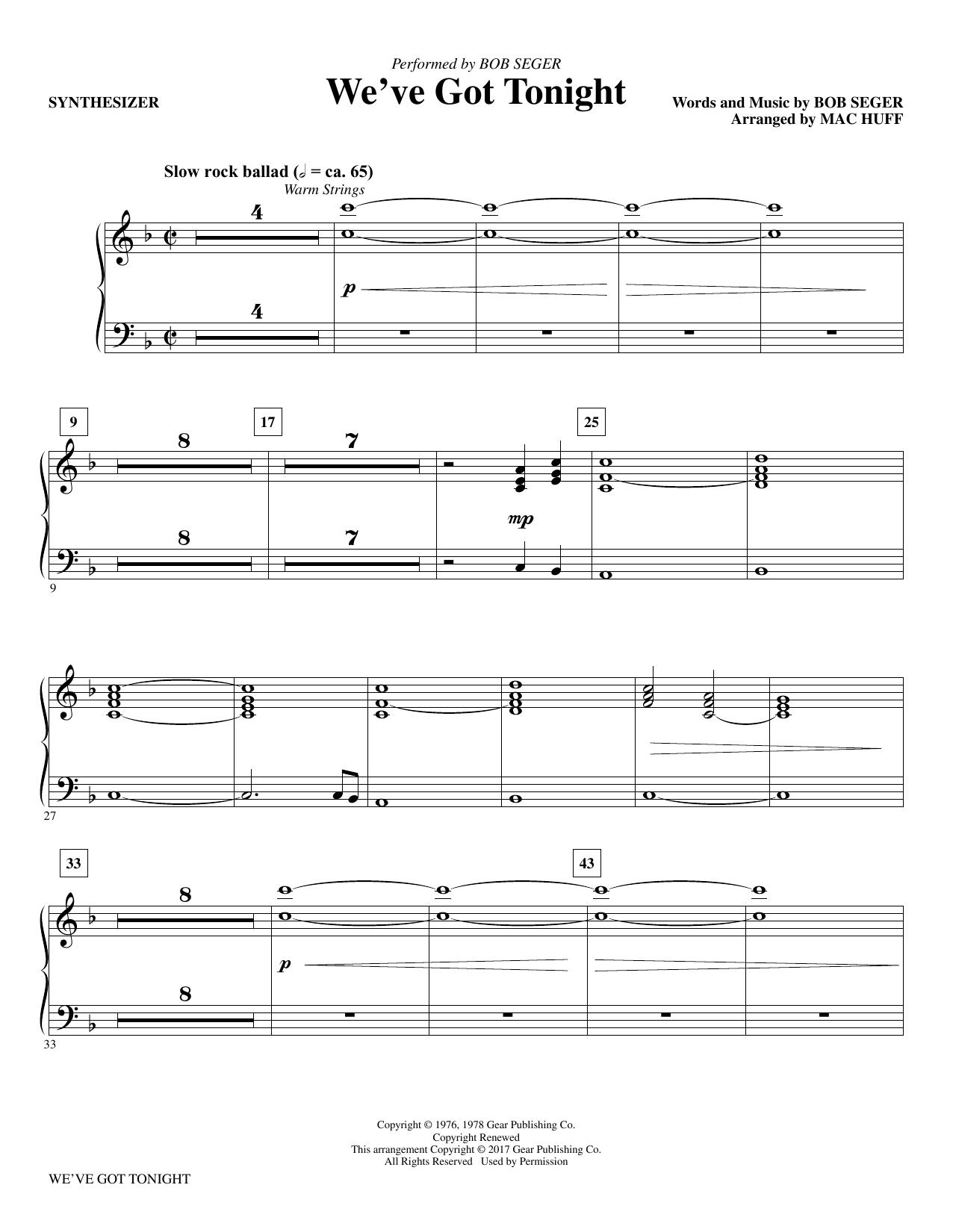 We've Got Tonight - Synthesizer (Choir Instrumental Pak)