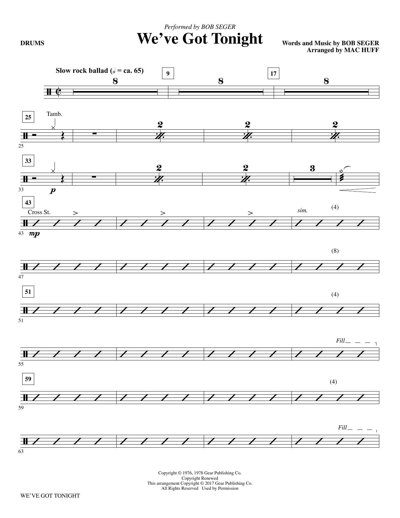 We've Got Tonight - Drums (Choir Instrumental Pak)