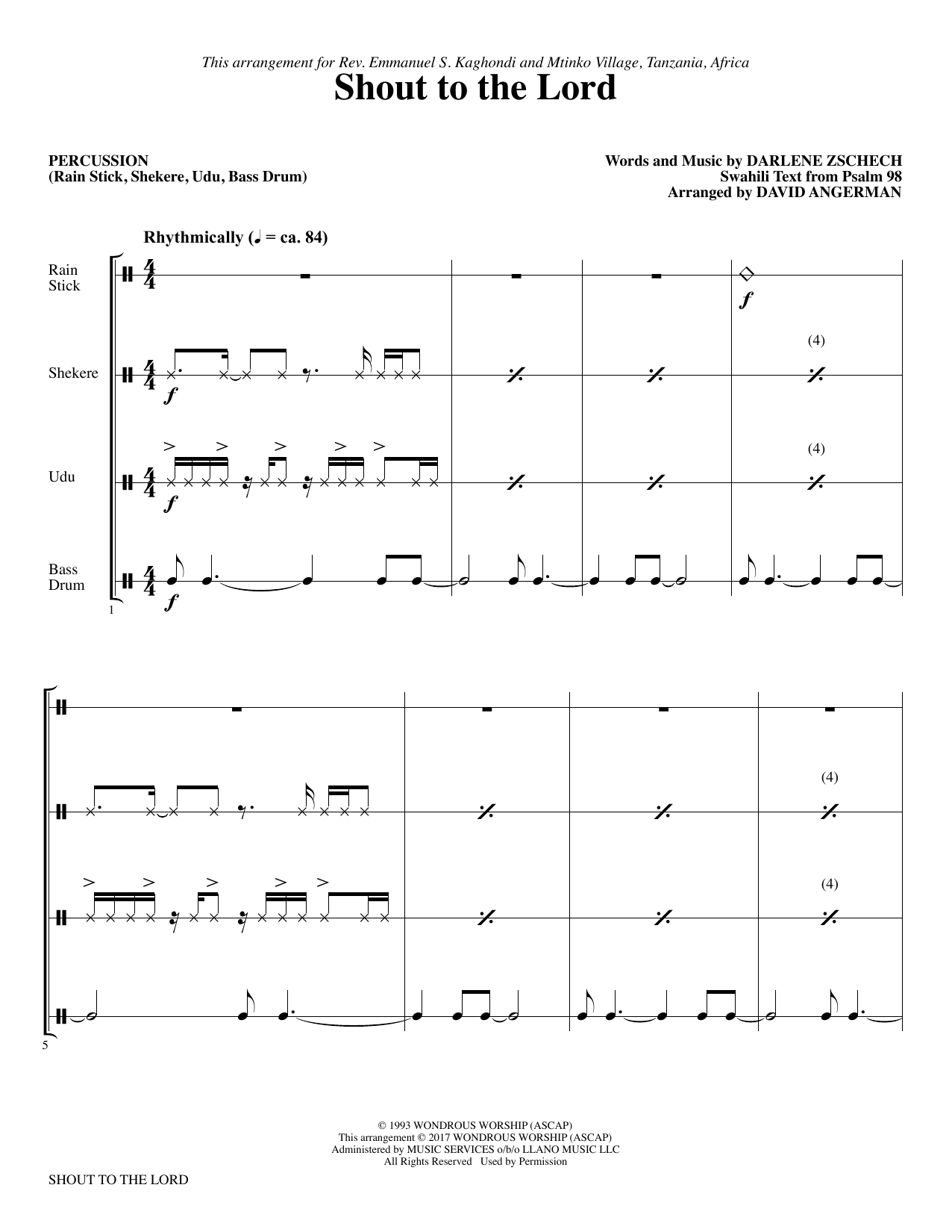 Shout to the Lord - Percussion (Choir Instrumental Pak)