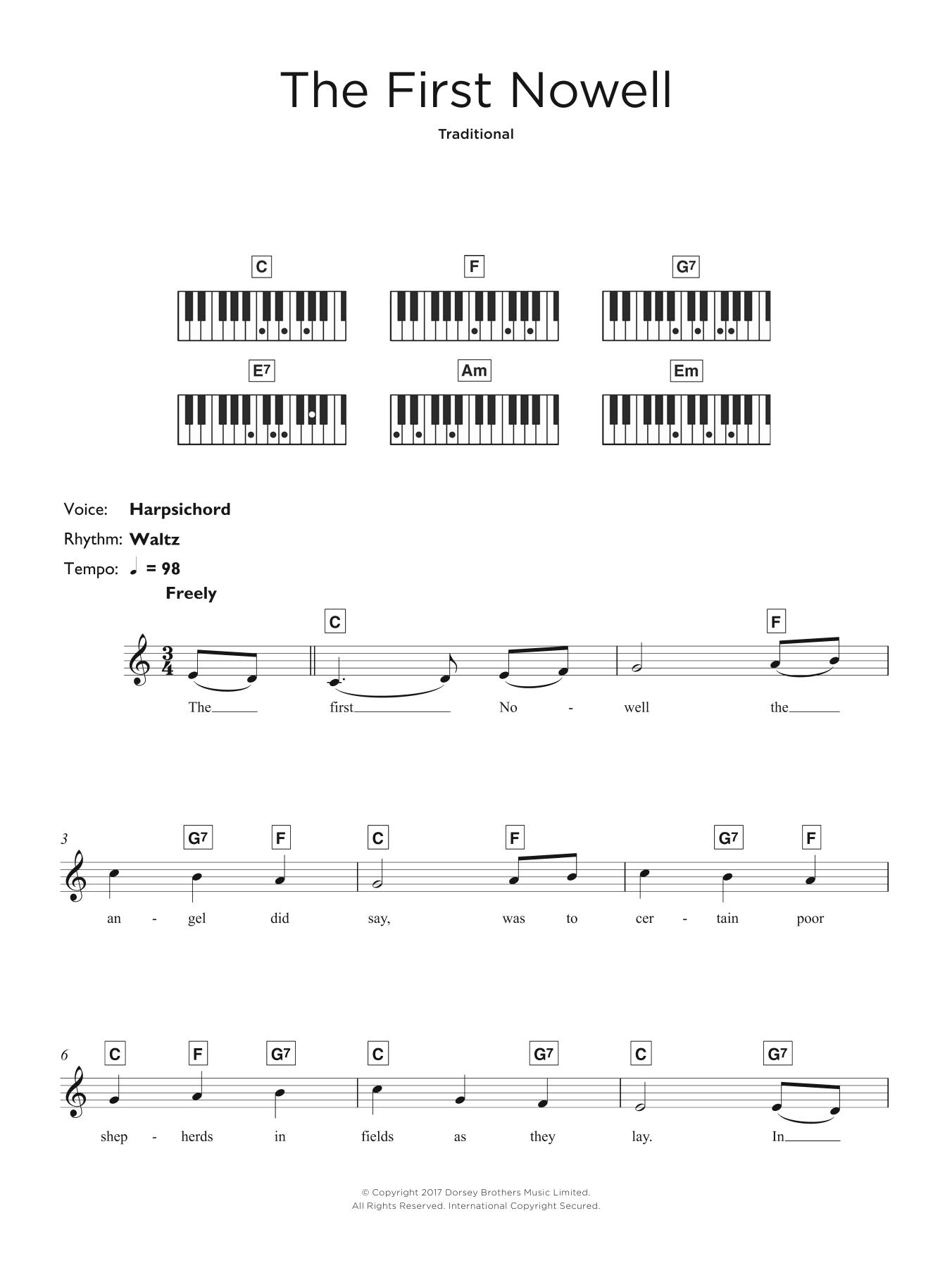 The First Nowell Sheet Music