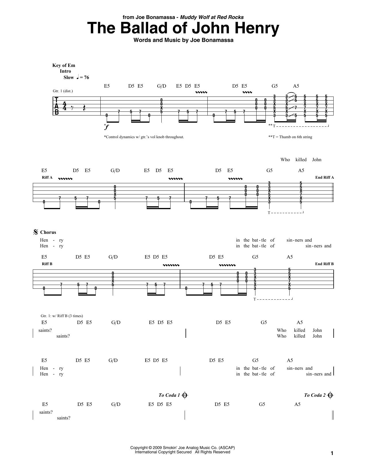 The Ballad Of John Henry Sheet Music