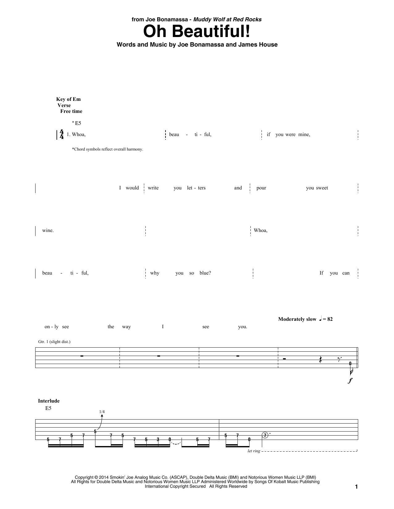 Oh Beautiful! Sheet Music