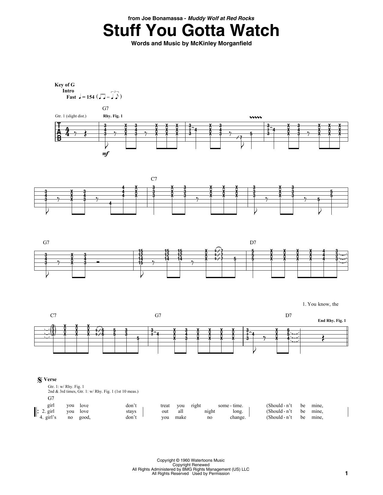 Stuff You Gotta Watch (Guitar Tab)