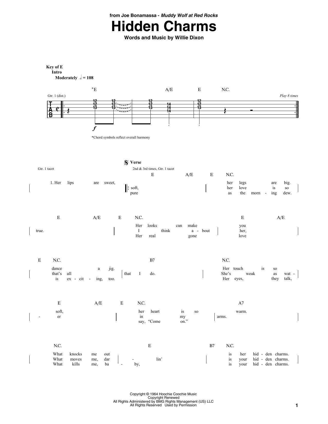 Hidden Charms (Guitar Tab)