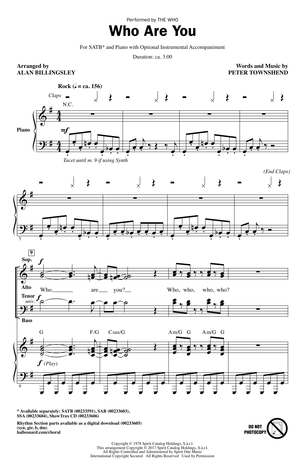 Who Are You (SATB Choir)