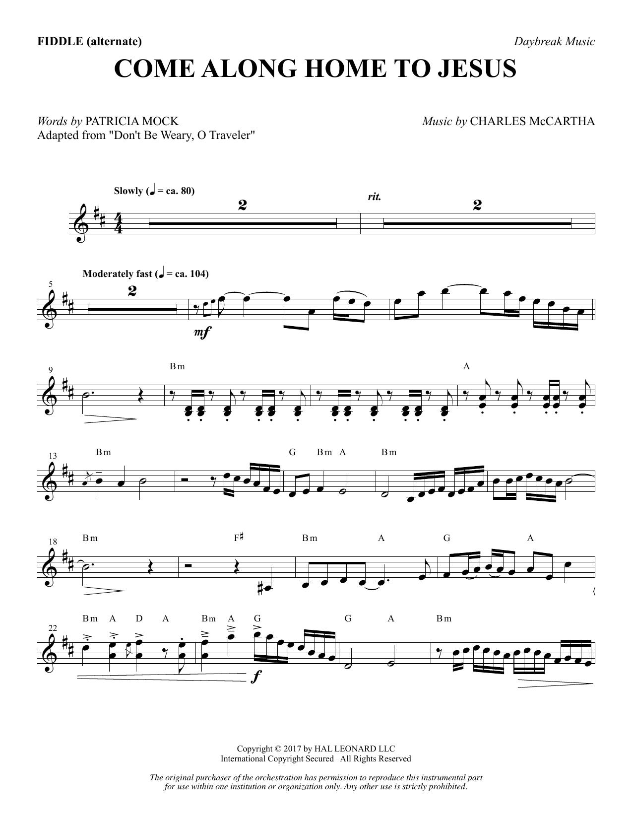 Come Along Home to Jesus - Fiddle (alternate) (Choir Instrumental Pak)
