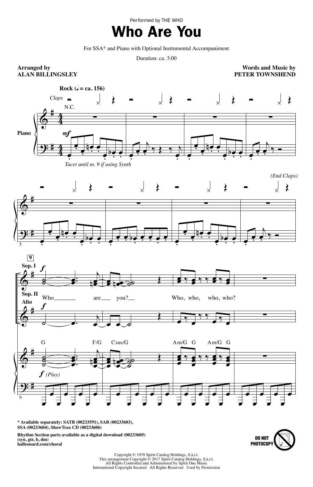 Who Are You Sheet Music